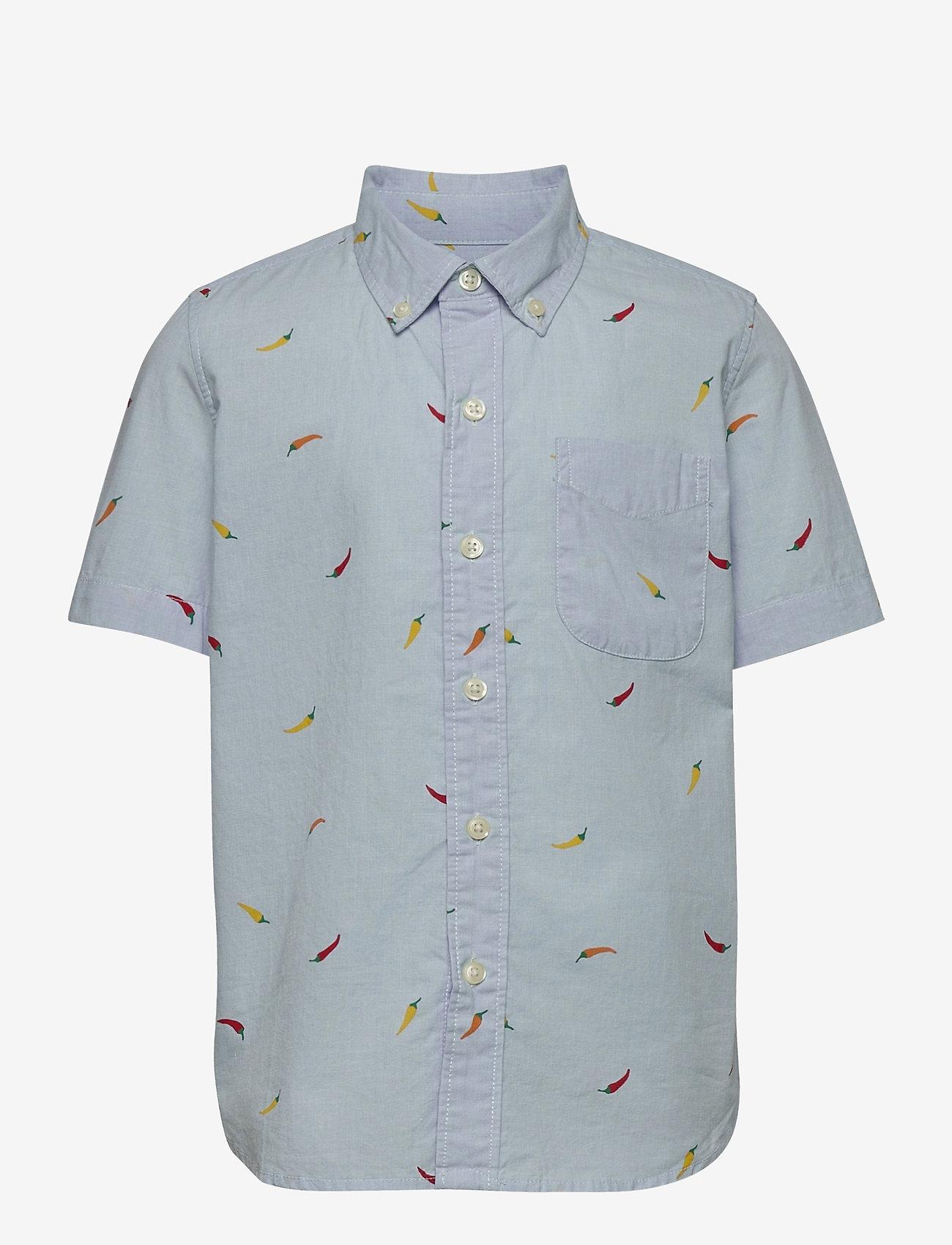 GAP - Kids Tropical Button-Down Shirt - overhemden - blue print stripe - 0