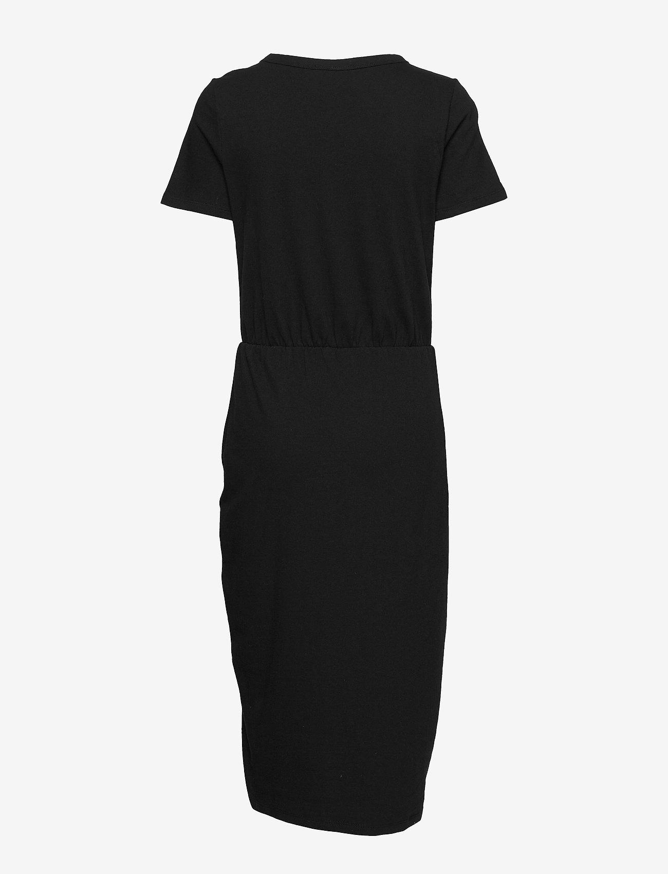 Short Sleeve Ruched Midi Dress (True Black V2 2) - GAP uejBF3