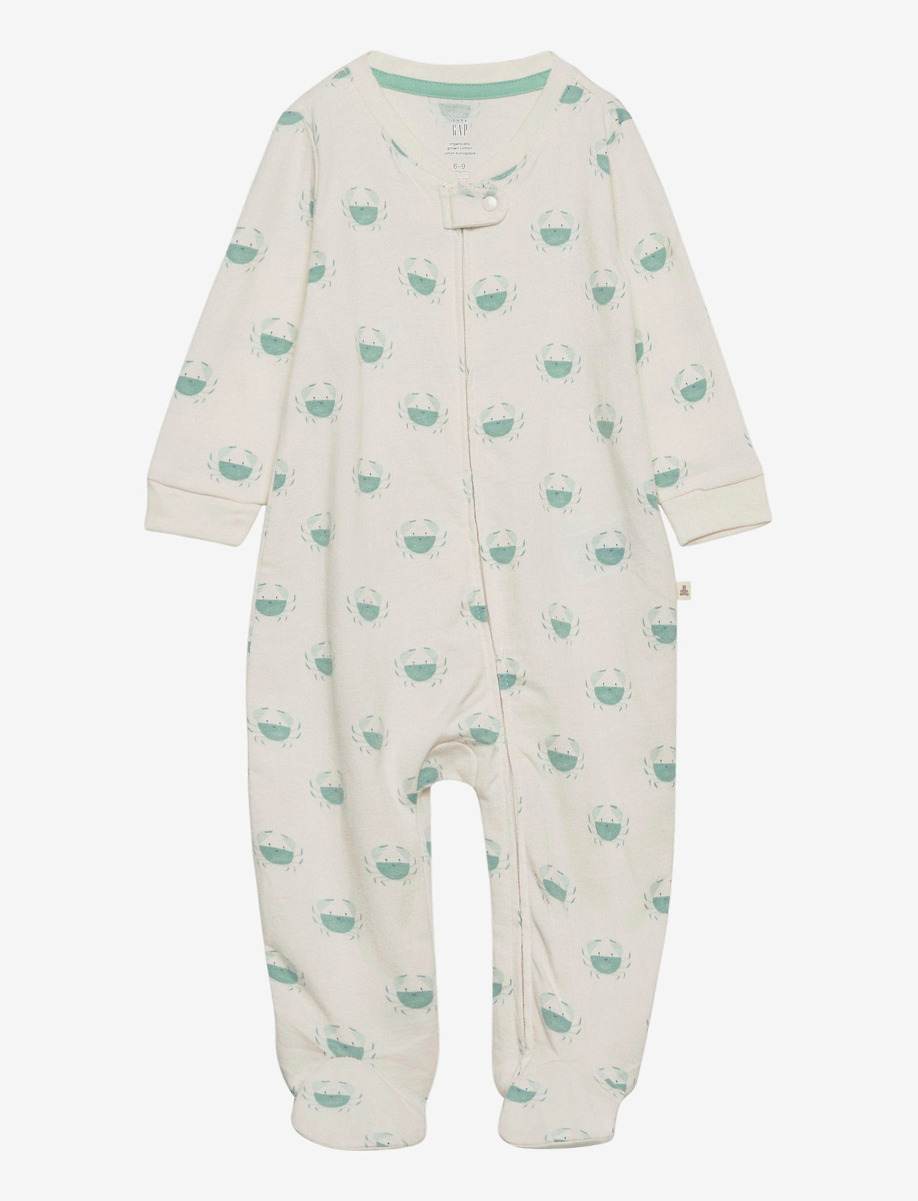 GAP - Baby Organic Footed One-Piece - langärmelig - ivory frost - 0