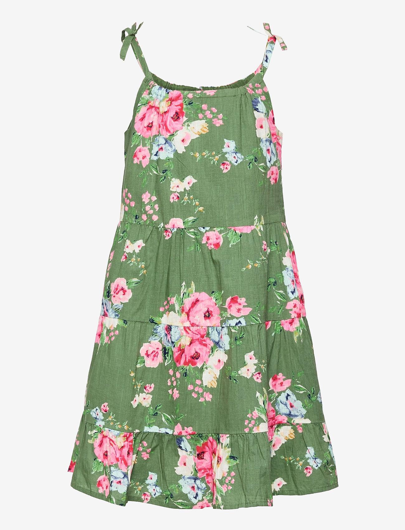 GAP - Girls Tiered Floral Dress - kleider - twig - 0