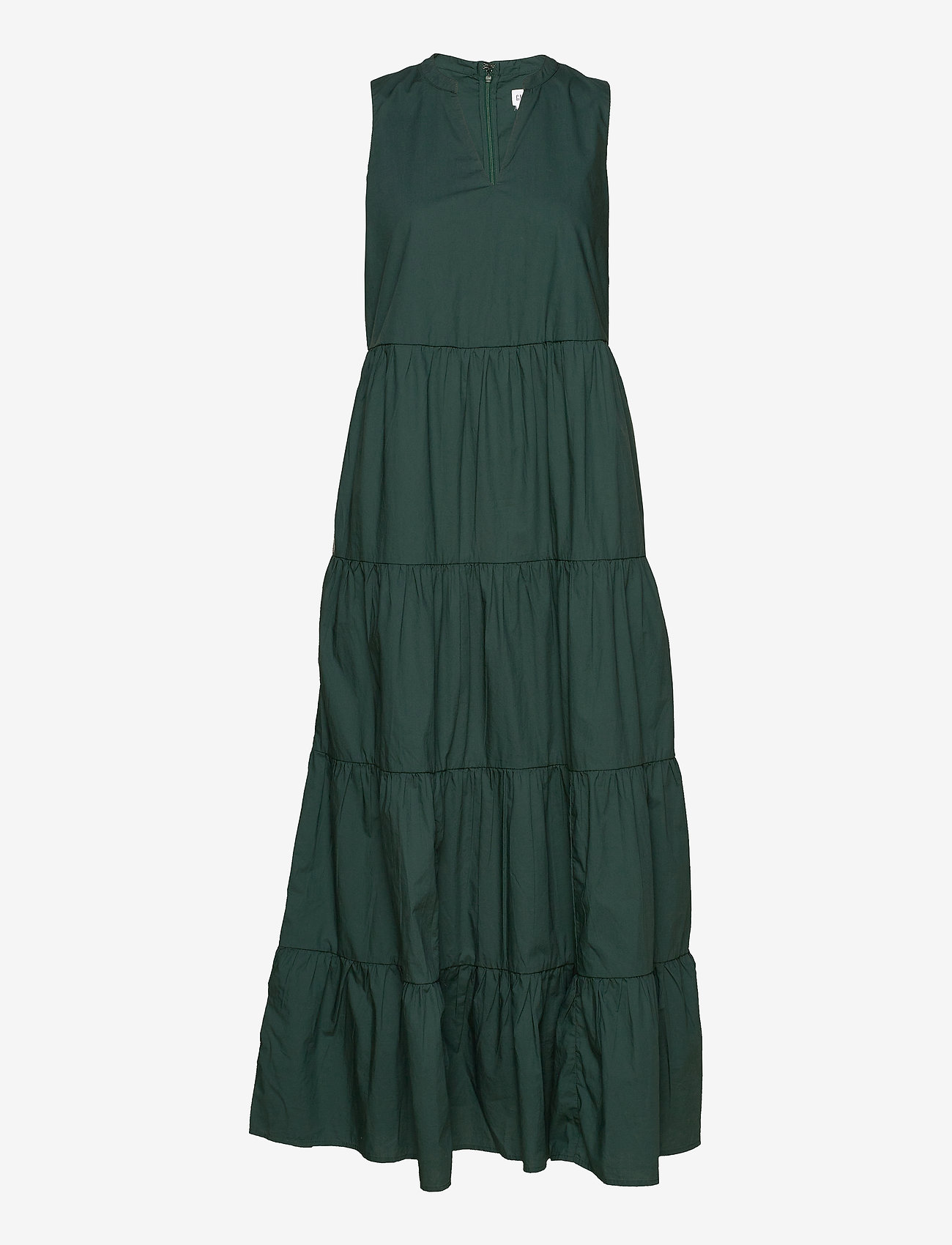 GAP - Sleeveless Tiered Maxi Dress - everyday dresses - olive 005 - 0