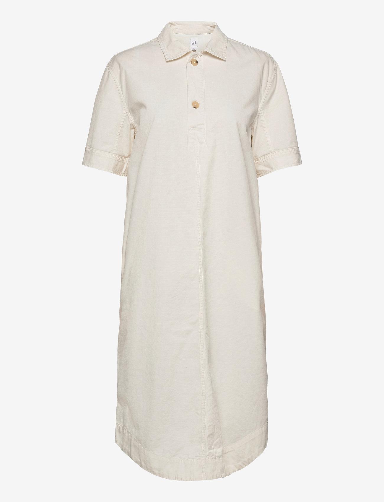 GAP - Midi Shirtdress - midi dresses - ivory frost - 0