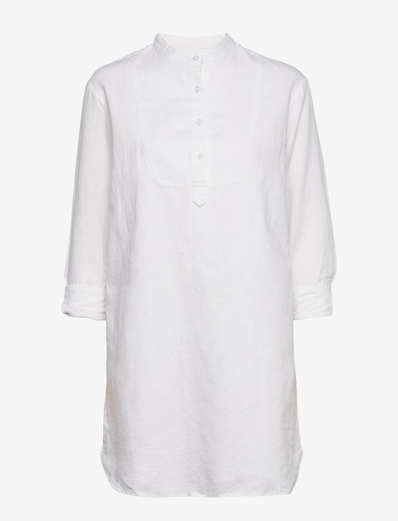 GAP - Long Sleeve Shirtdress in Linen-Cotton - shirt dresses - fresh white - 0