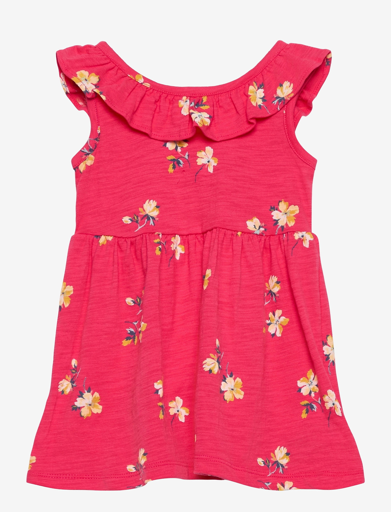 GAP - Toddler Ruffle Skater Dress - kjoler - pink floral 1 - 0