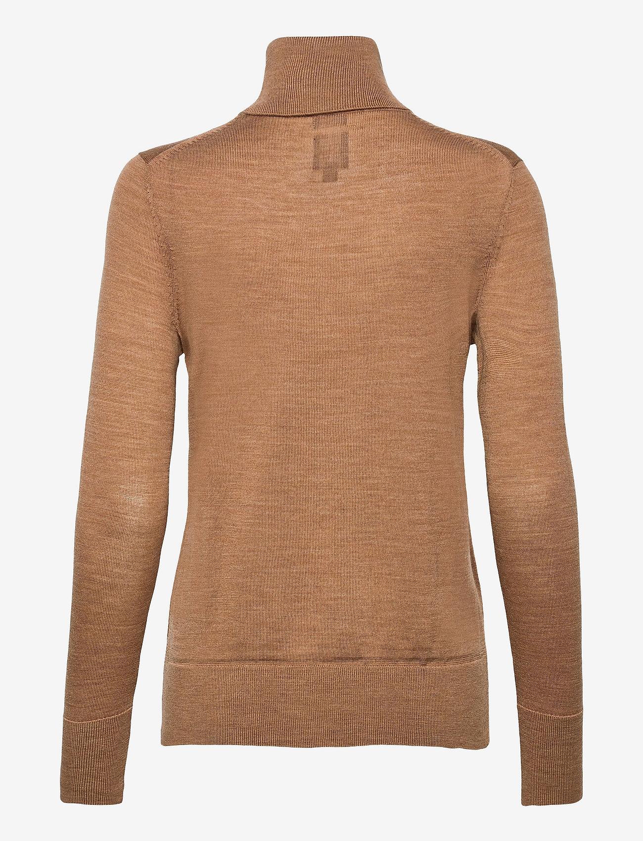 GAP - Merino Turtleneck Sweater - turtlenecks - camel heather b2303 - 1