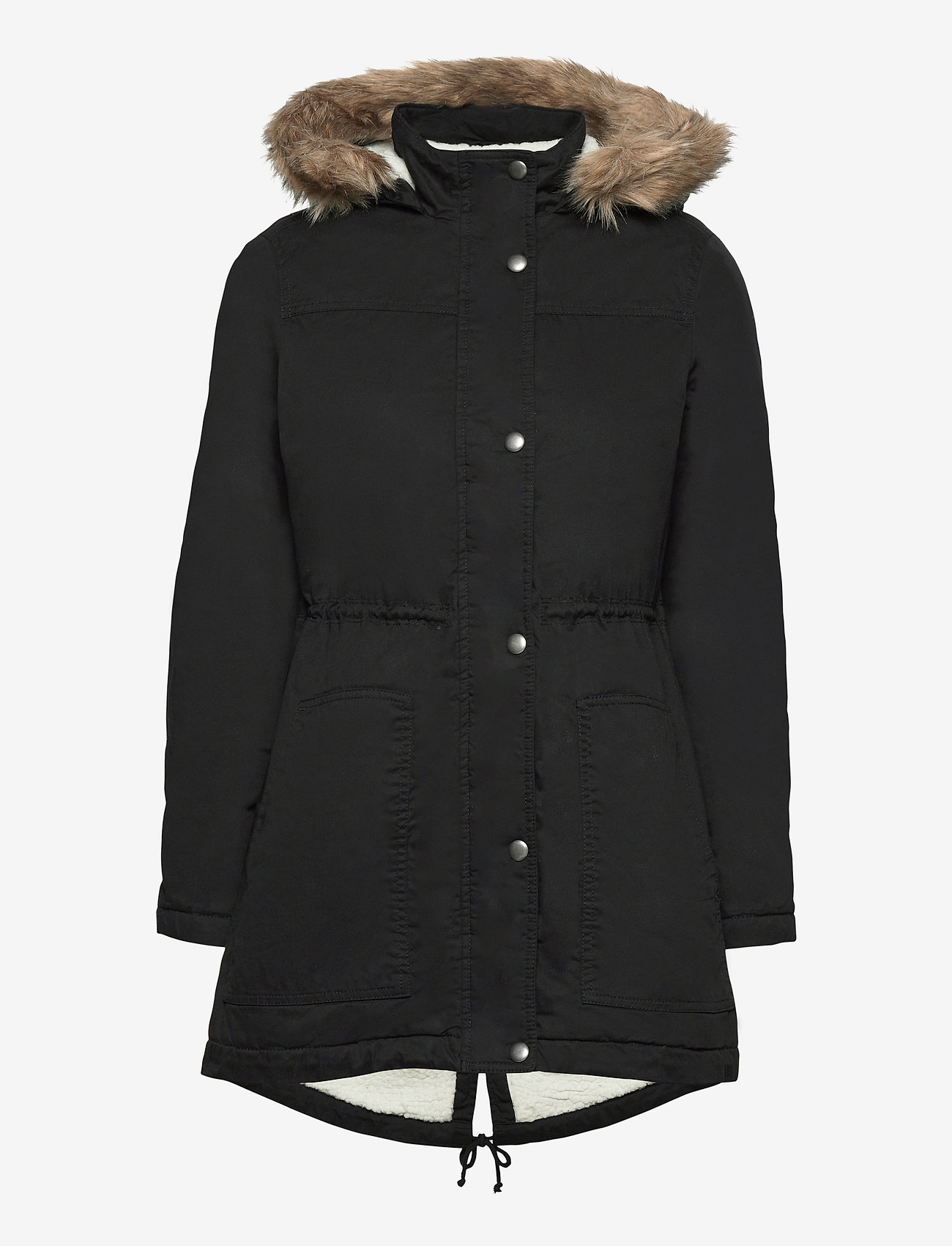GAP - V-SHERPA PARKA - parka coats - true black v2 2 - 0