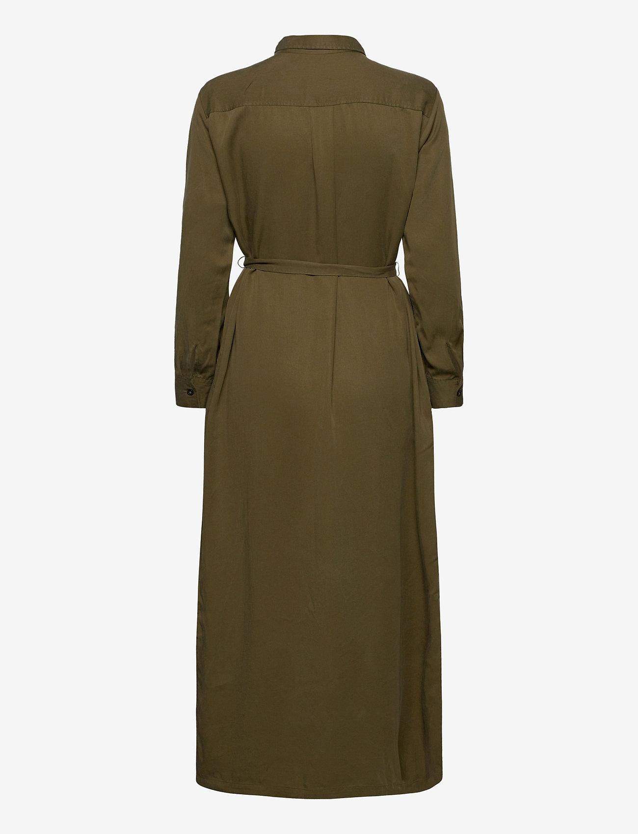 GAP - LS DRAPEY SHRTDRS - midi dresses - ripe olive - 1