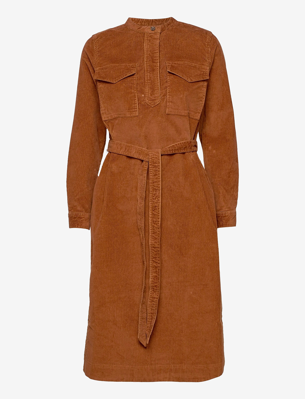 GAP - LS CORD SHIRTDRESS - everyday dresses - chestnut 616 - 0