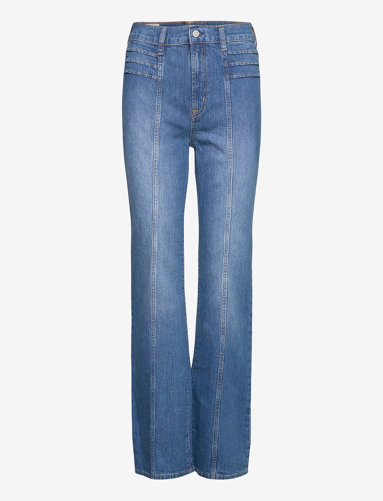 GAP - High Rise Vintage Flare Jeans - straight jeans - medium indigo 11 - 0