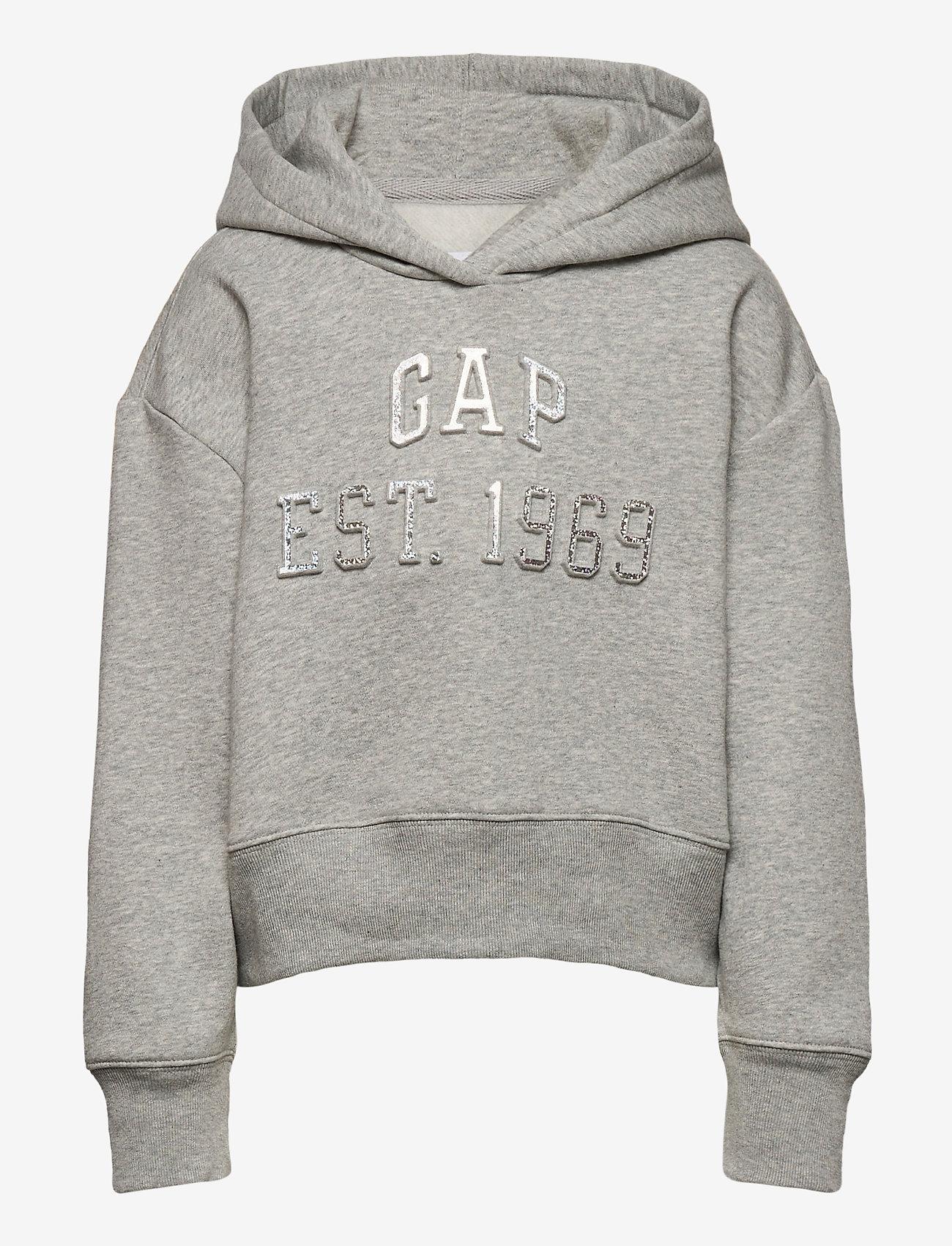 GAP - Kids Embossed Gap Logo Hoodie - hoodies - light heather grey - 0