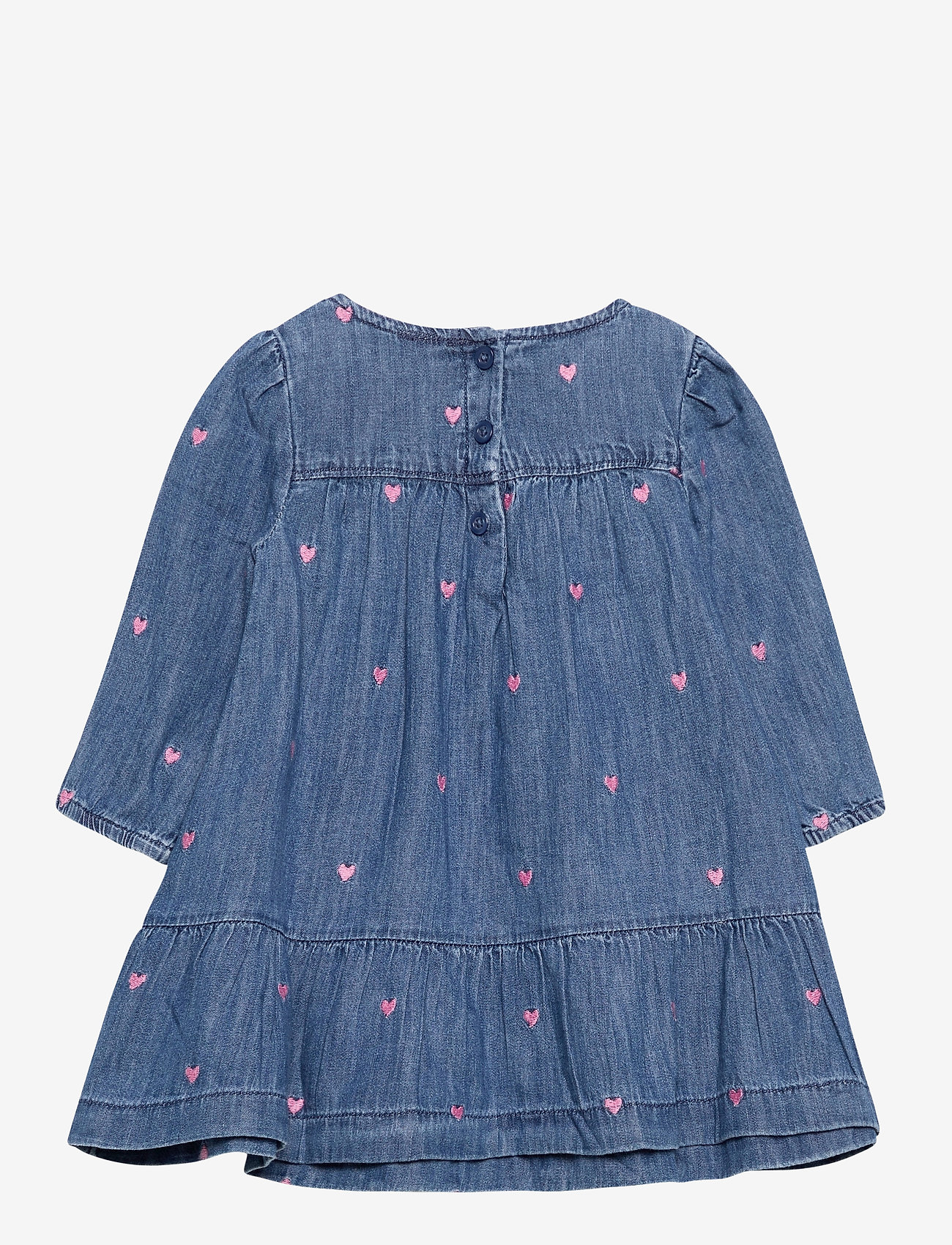 GAP - Toddler Denim Heart Dress - kleider - hearts - 1