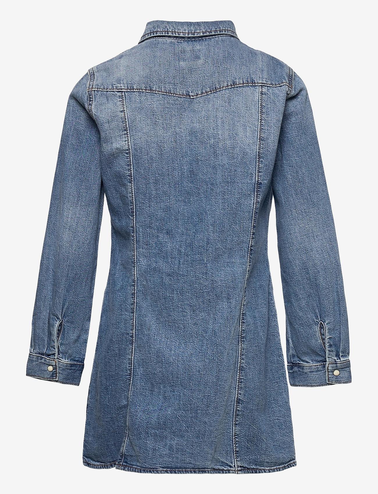 GAP - Kids Denim Dress - kleider - medium wash - 1