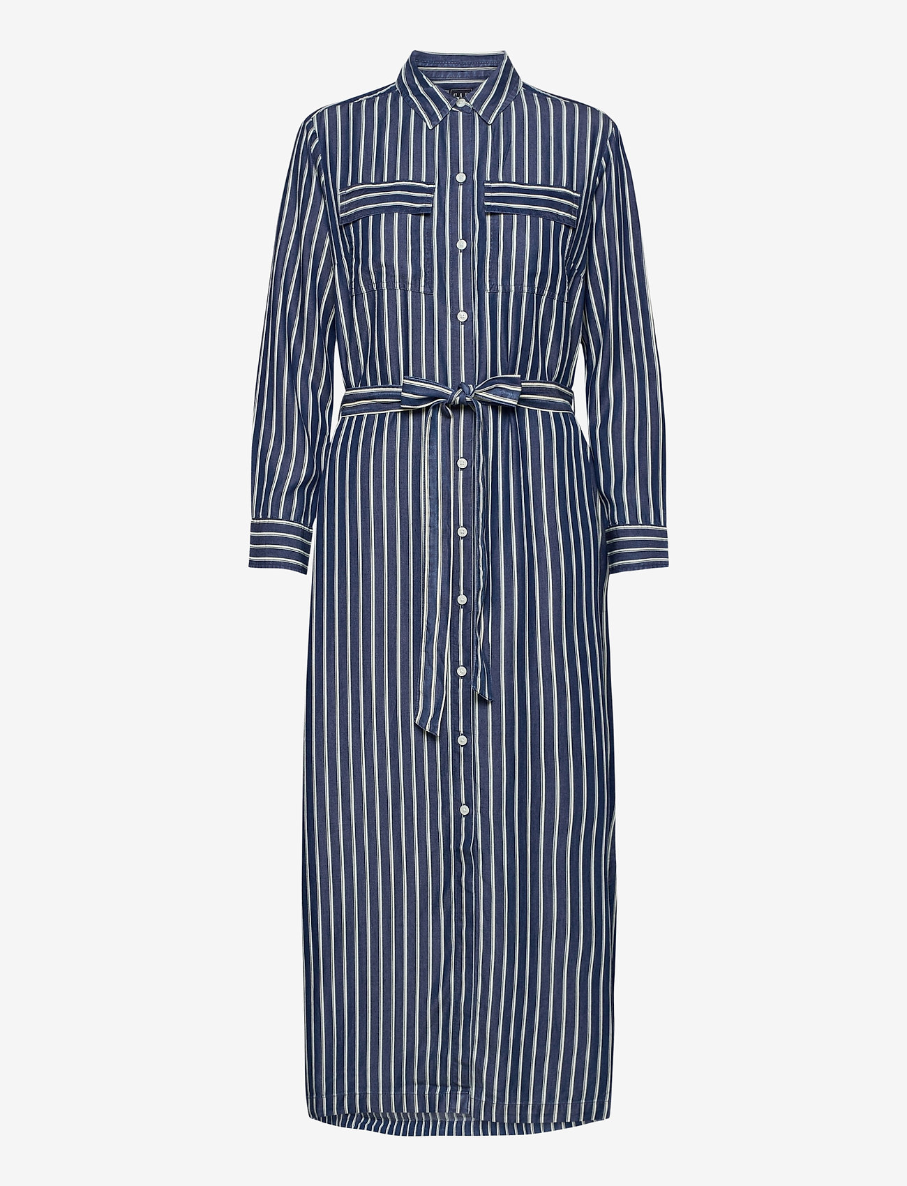GAP - LS DRAPEY SHIRTDRS -STP - everyday dresses - blue stripe combo s - 0