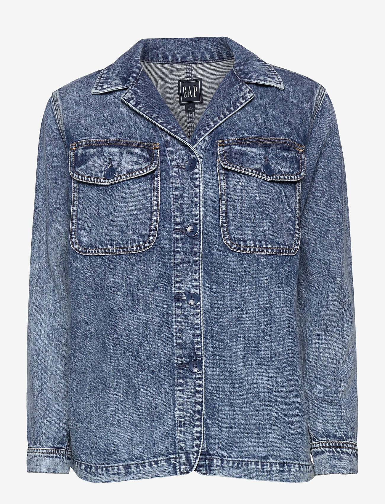 GAP - Denim Shirt Jacket - denim jackets - medium indigo 20 - 0