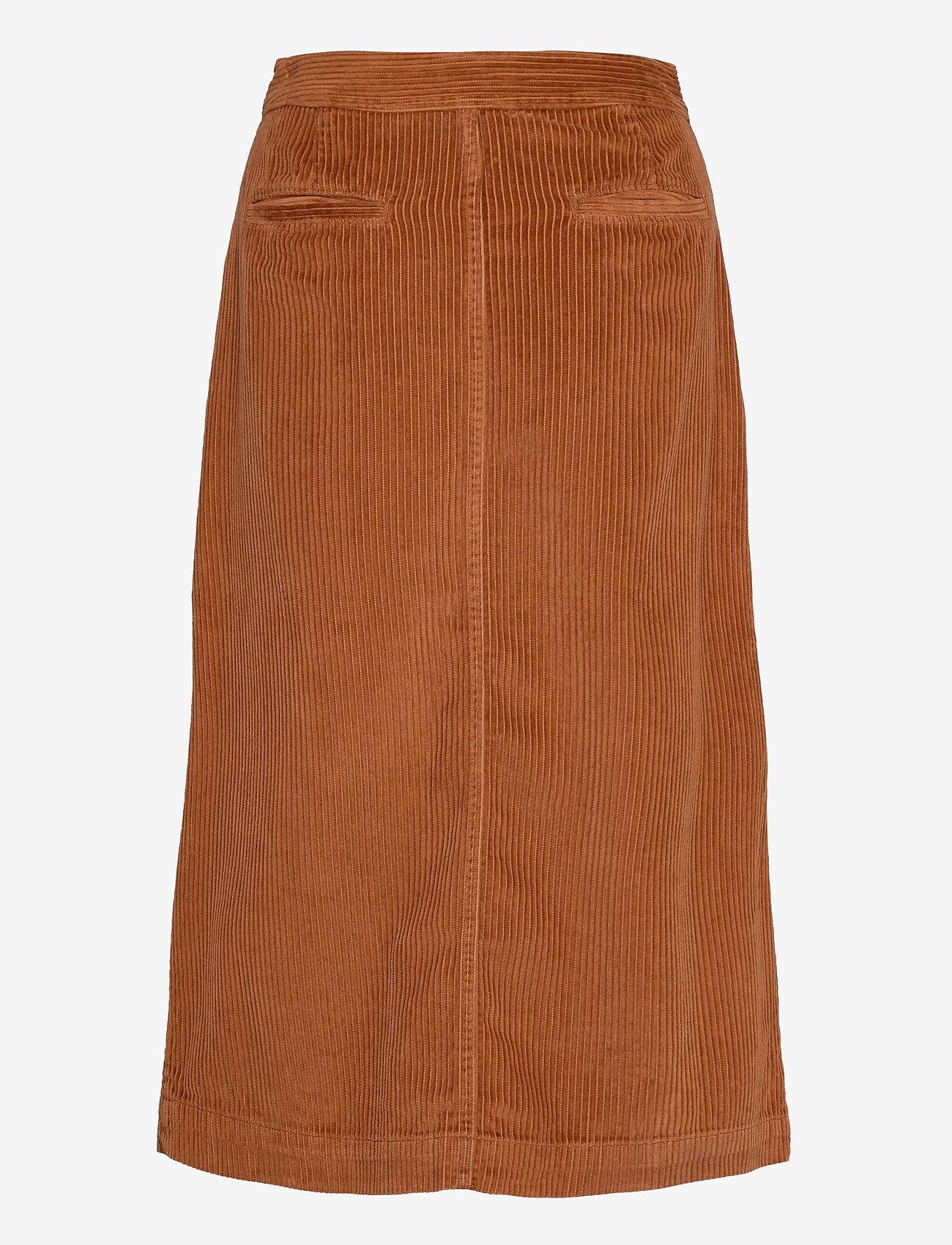GAP - A-line Corduroy Midi Skirt - midi skirts - chestnut 616 - 1