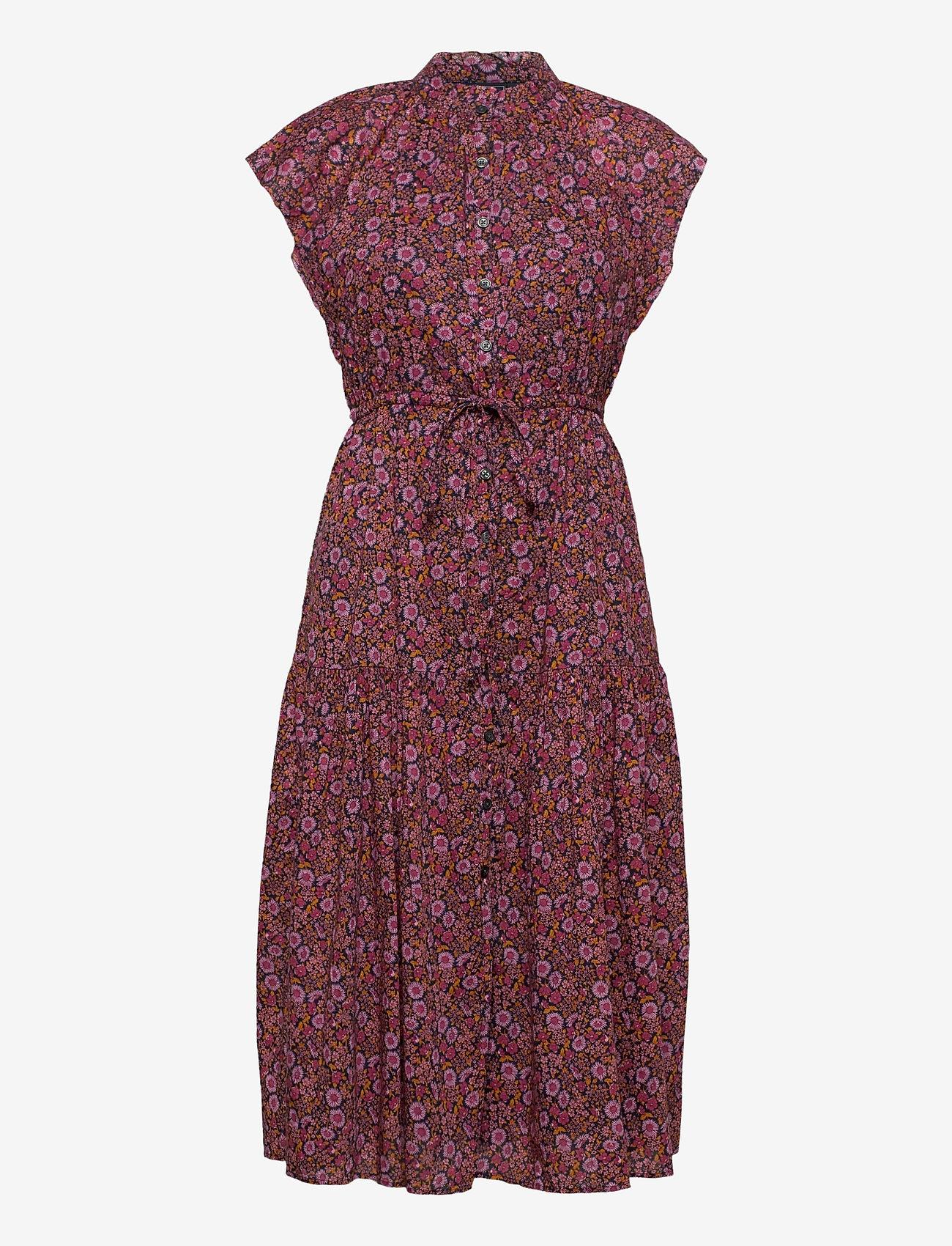 GAP - Flutter Sleeve Midi Dress - midi dresses - pink floral 1 - 0
