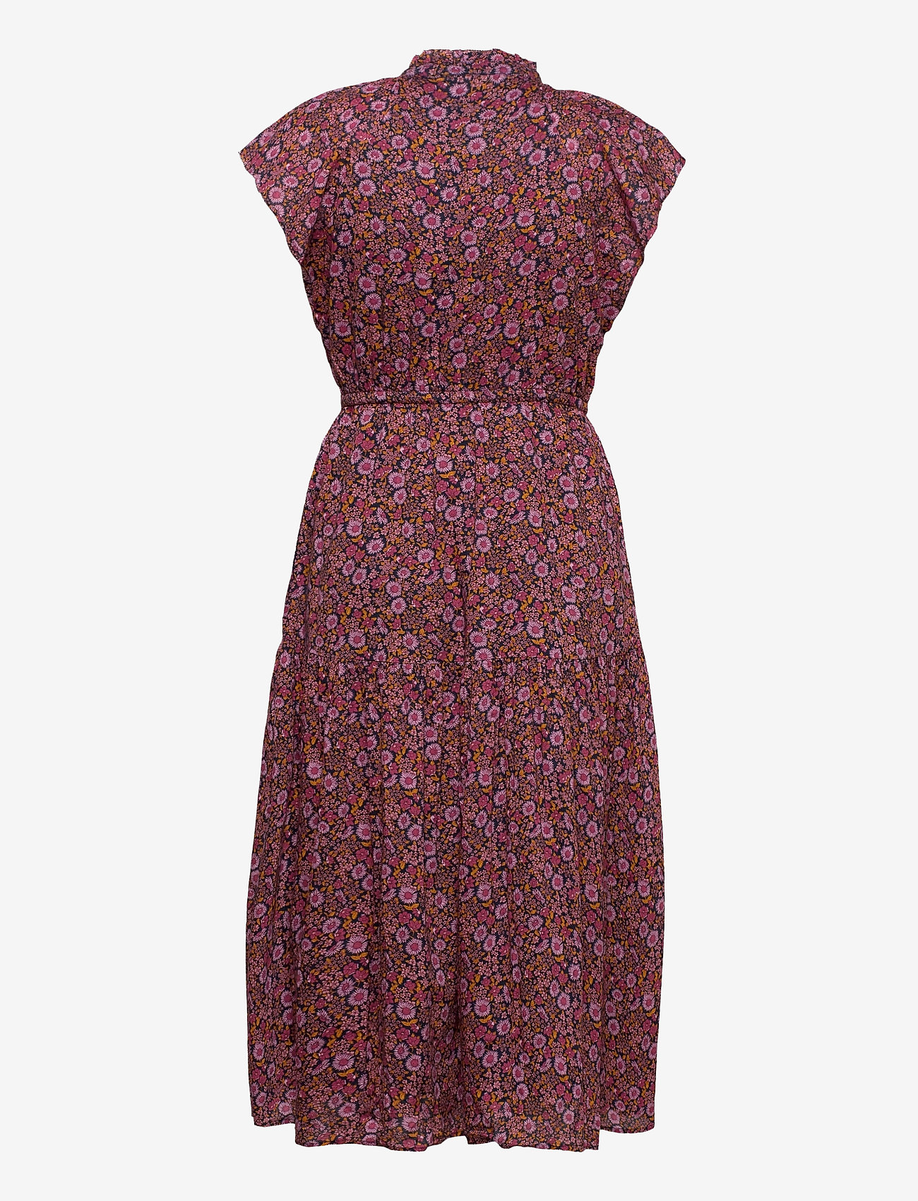 GAP - Flutter Sleeve Midi Dress - midi dresses - pink floral 1 - 1