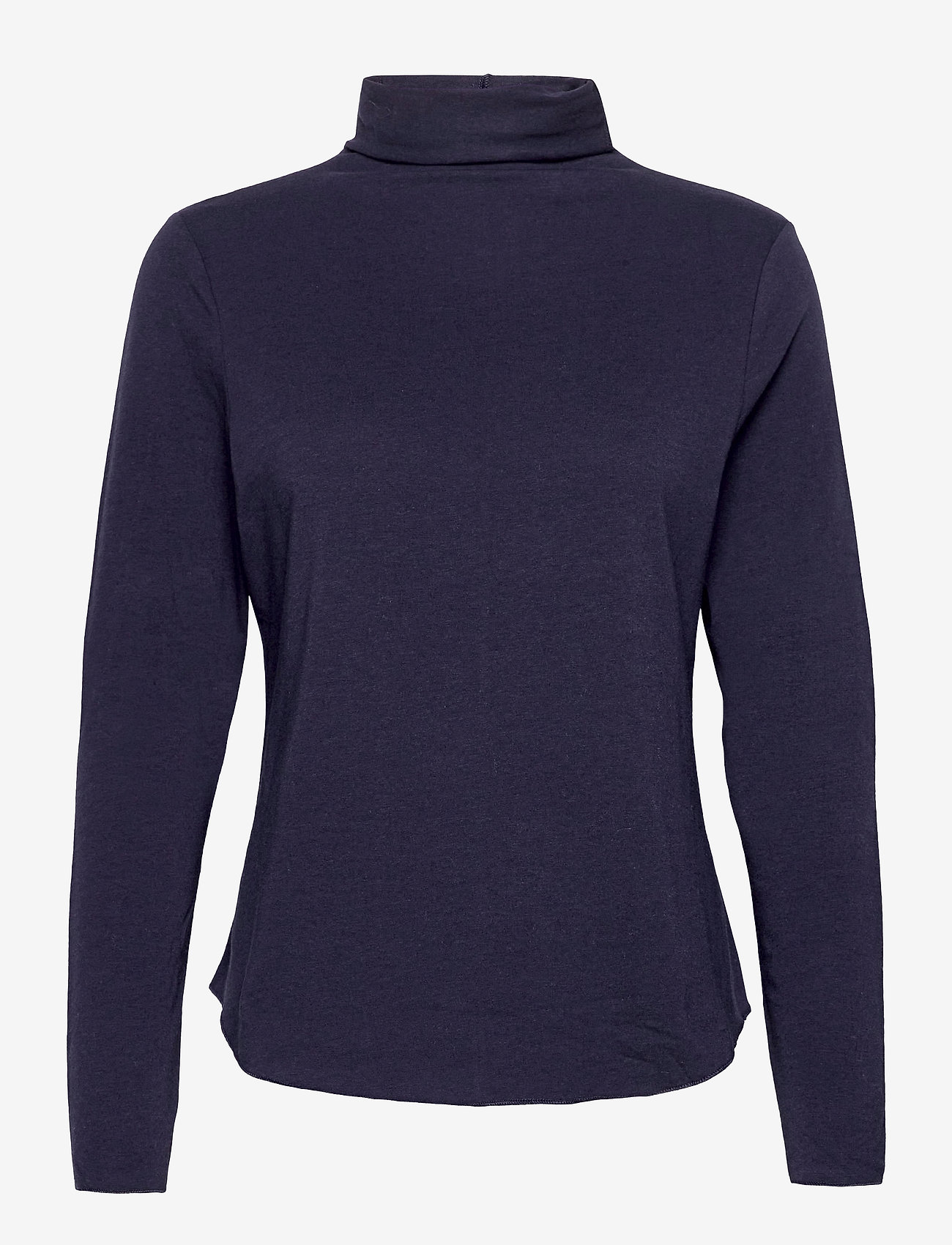 GAP - Fitted Funnel-Neck T-Shirt - long-sleeved tops - navy uniform - 0