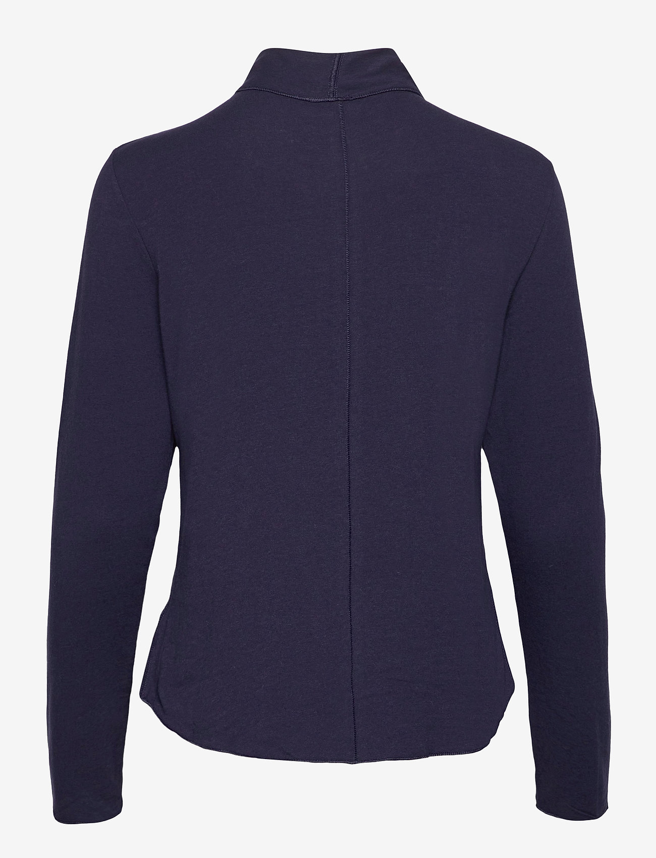 GAP - Fitted Funnel-Neck T-Shirt - long-sleeved tops - navy uniform - 1