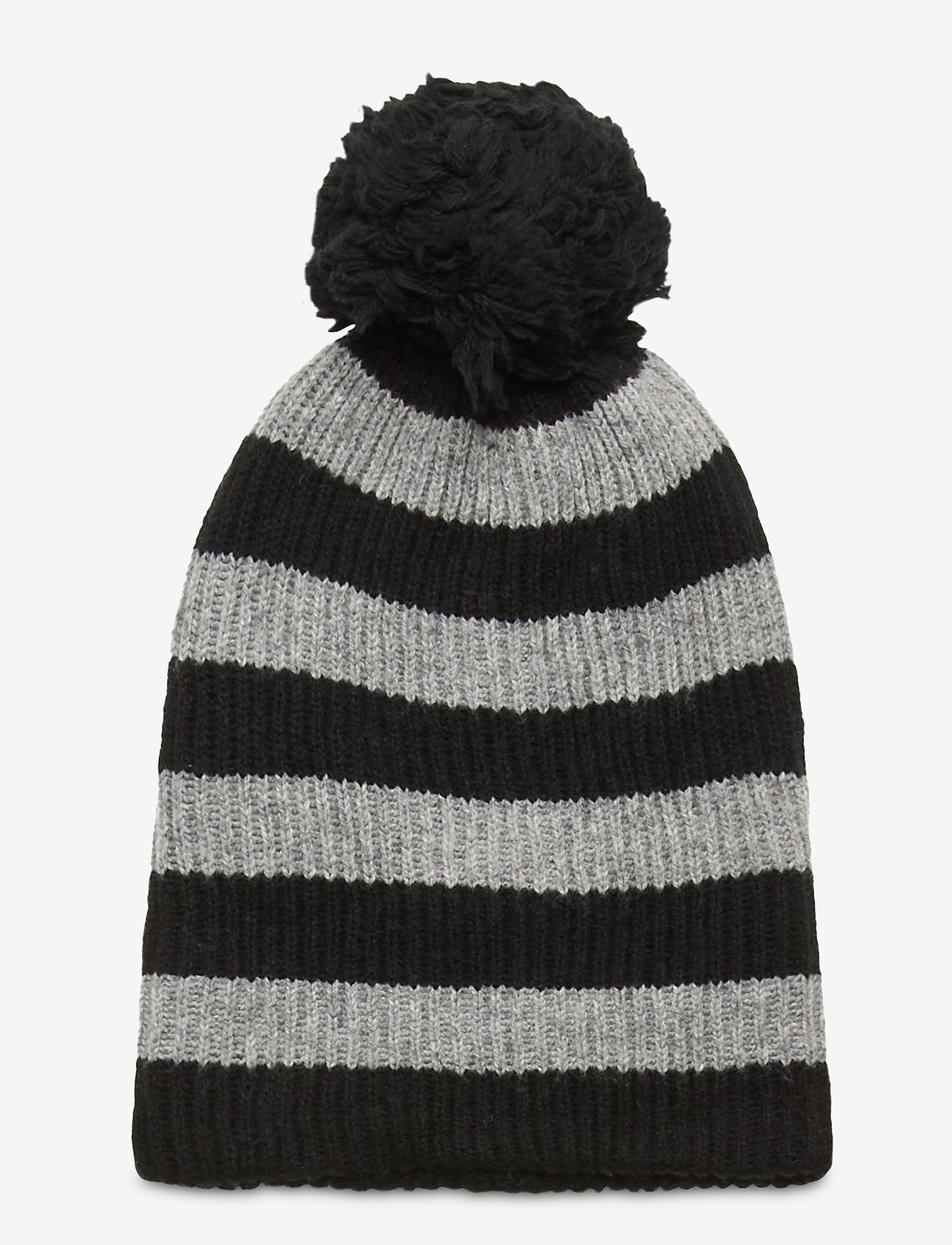 GAP - Reversible Pom Beanie - huer - black heather stripe - 0