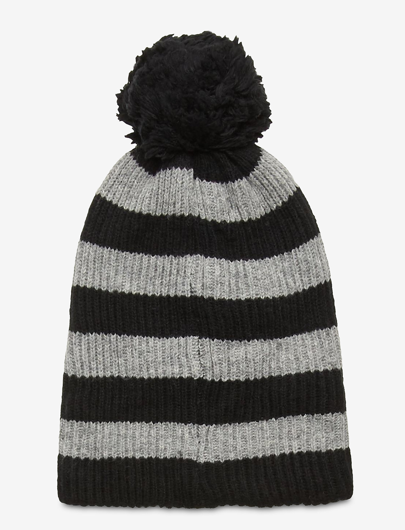 GAP - Reversible Pom Beanie - huer - black heather stripe - 1