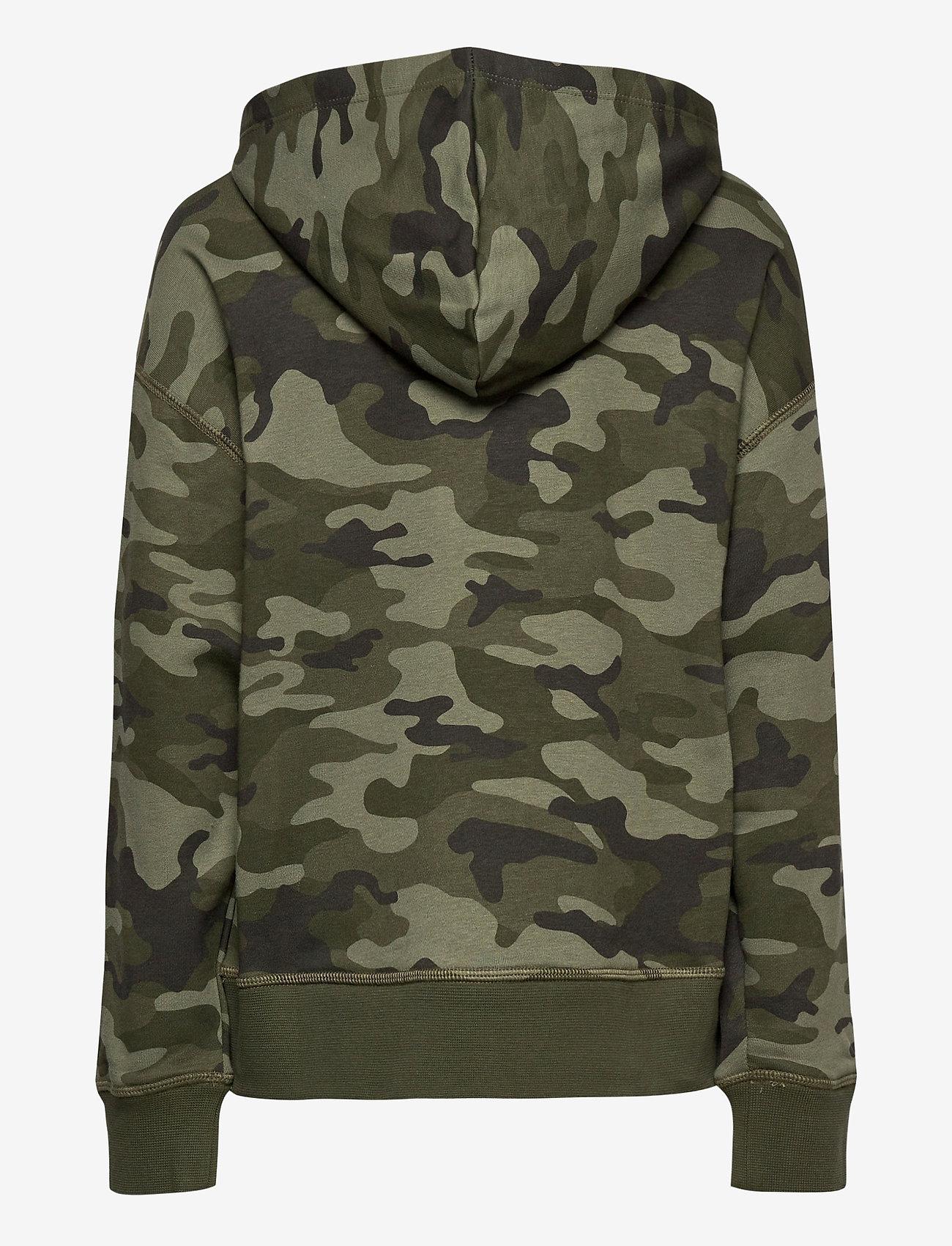 GAP - FT INTL ARCH PO HD - hoodies - green camo - 1