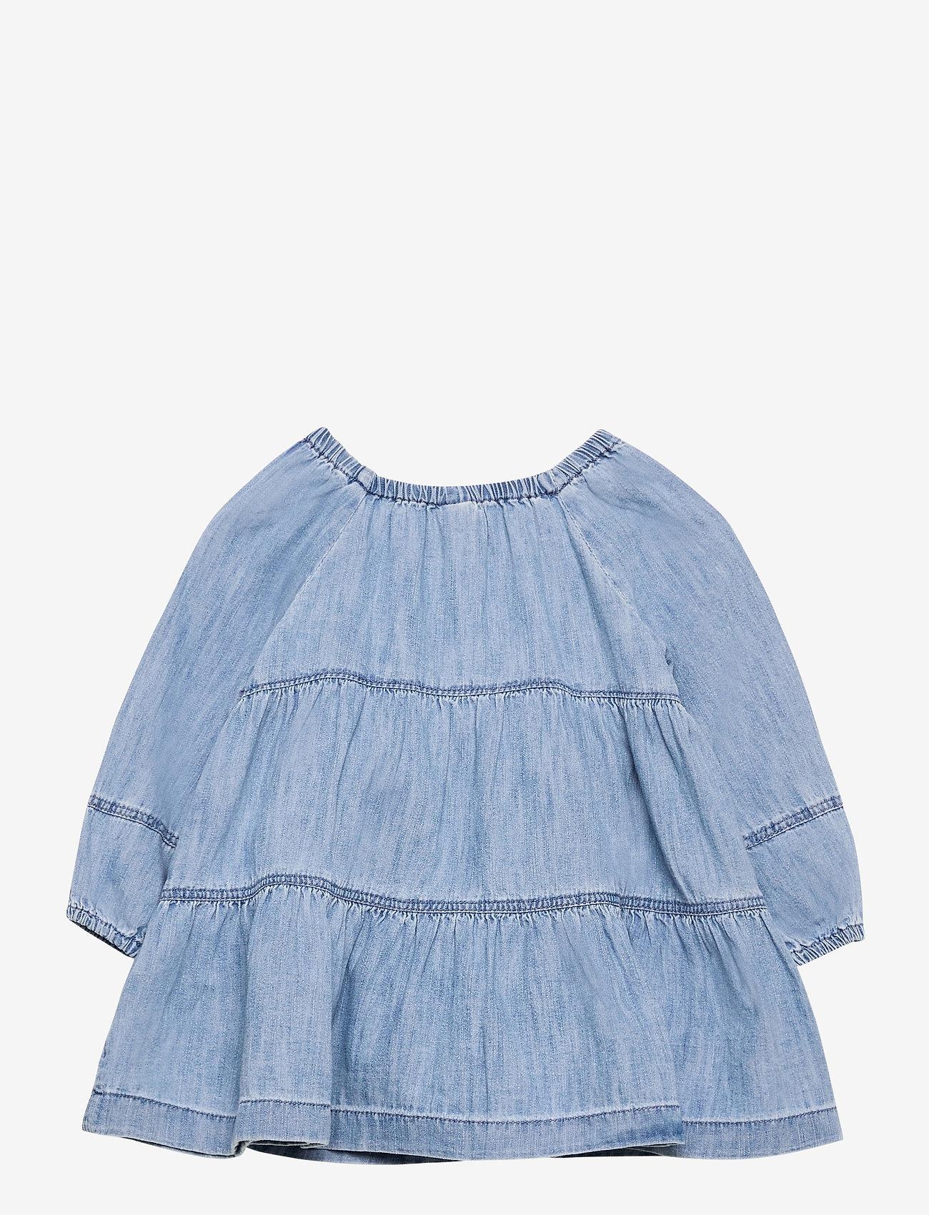GAP - Baby Denim Tiered Dress - kleider - denim 616 - 1