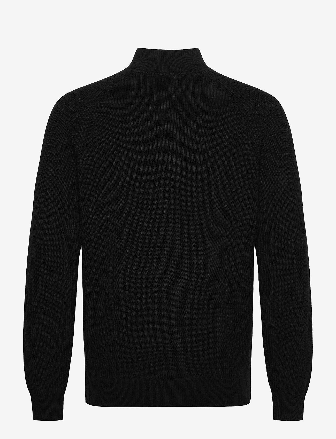 GAP - Mockneck Shaker Sweater - half zip - true black v2 - 1