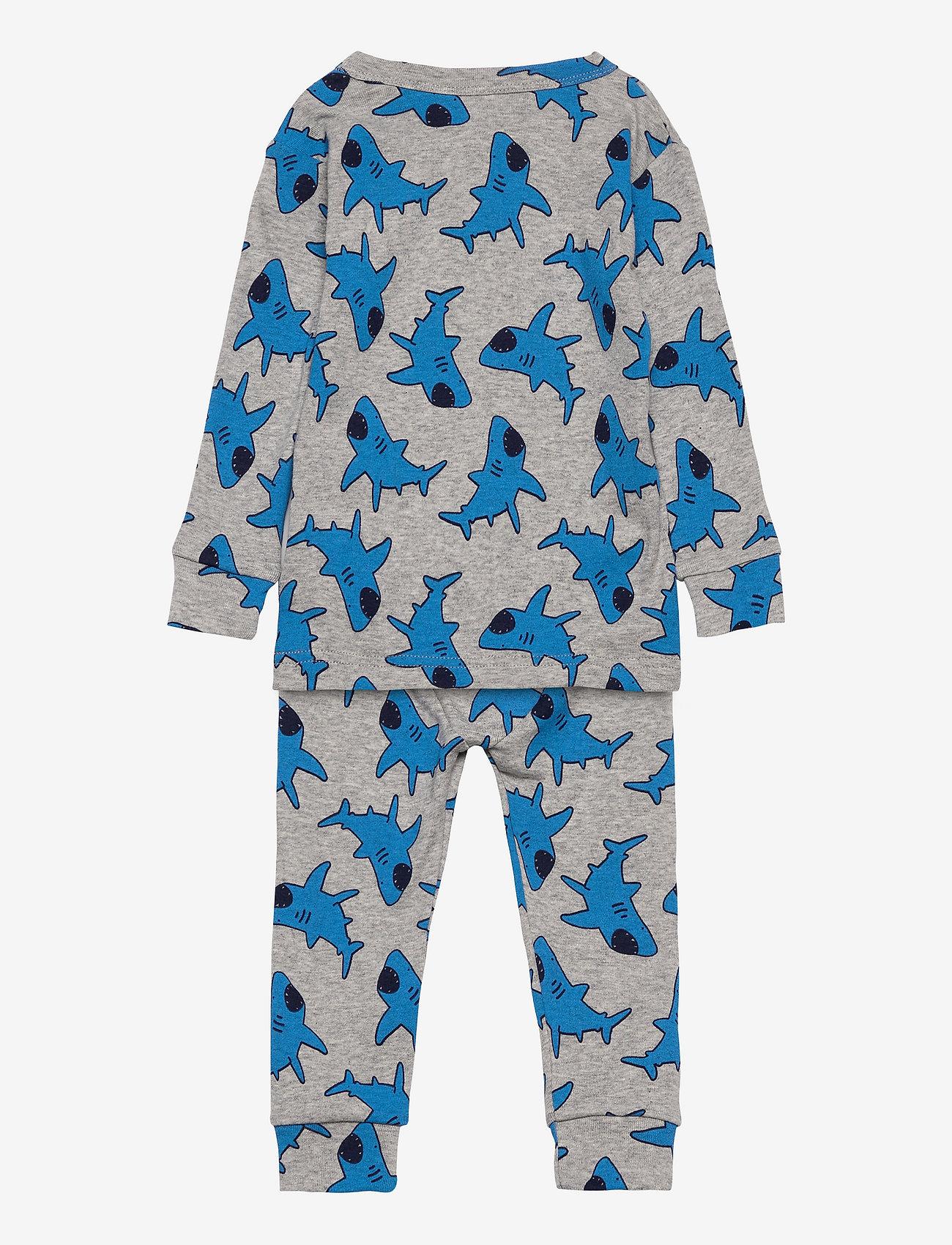 GAP - babyGap Shark Long Sleeve PJ Set - sets - h grey b08 combo n - 1