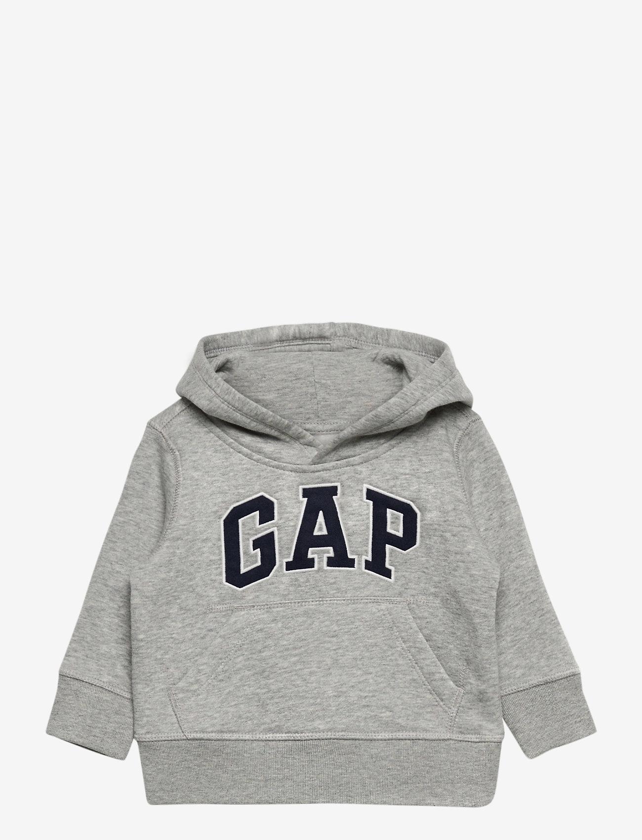 GAP - FR PO LOGO REFRESH - hoodies - light heather grey v6 - 0
