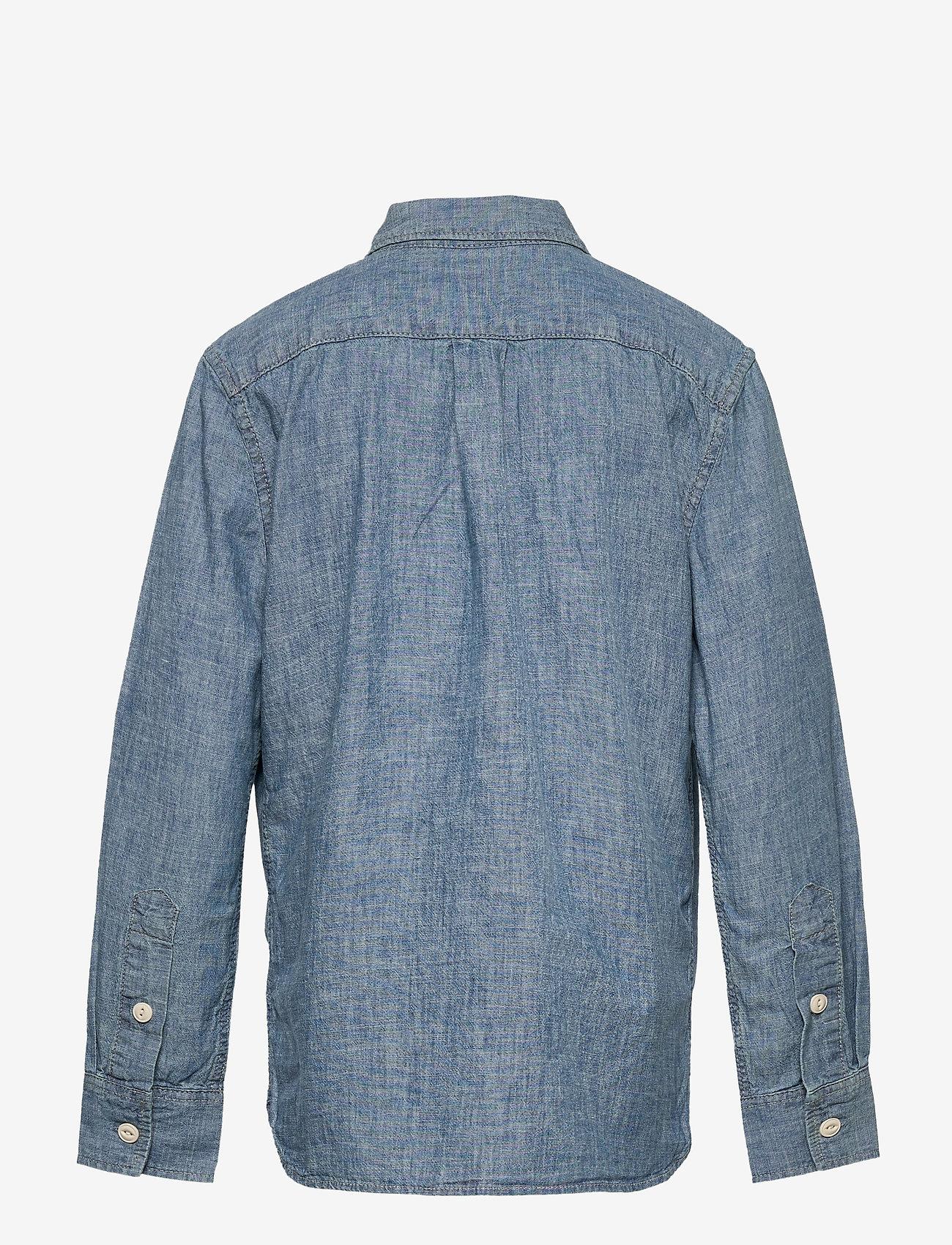 GAP - Kids Chambray Button-Up Shirt - overhemden - medium wash - 1