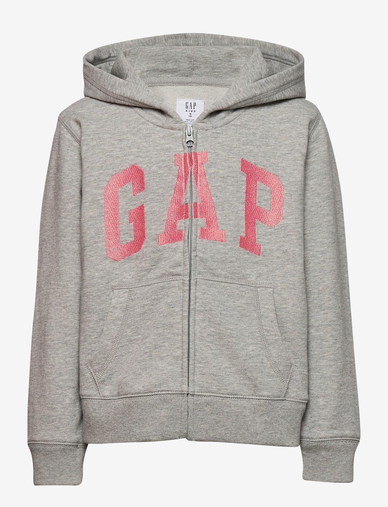 GAP - IE FT BASIC ARCH FZ - hoodies - light heather grey b08 - 0