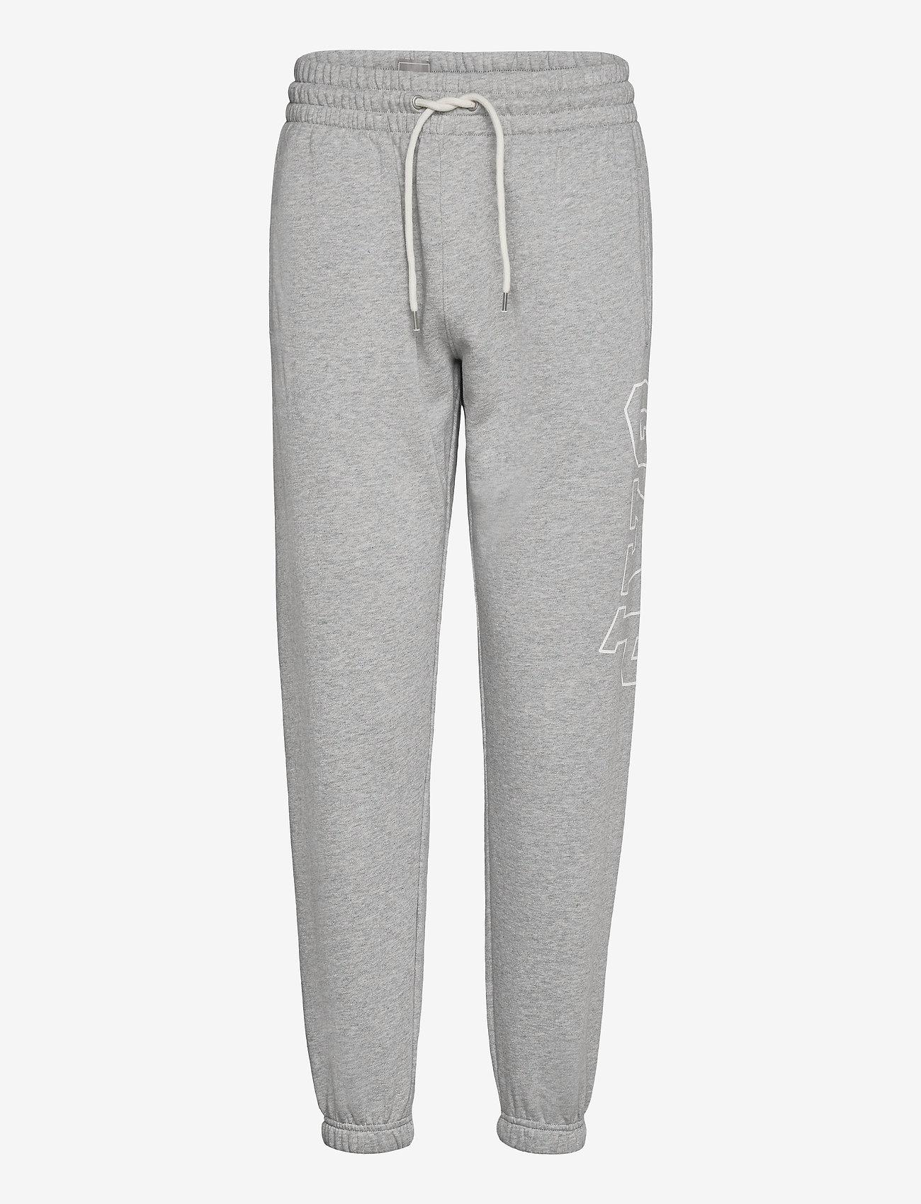 GAP - Gap Logo Heavyweight Easy Joggers - sweatpants - b10 grey heather - 0