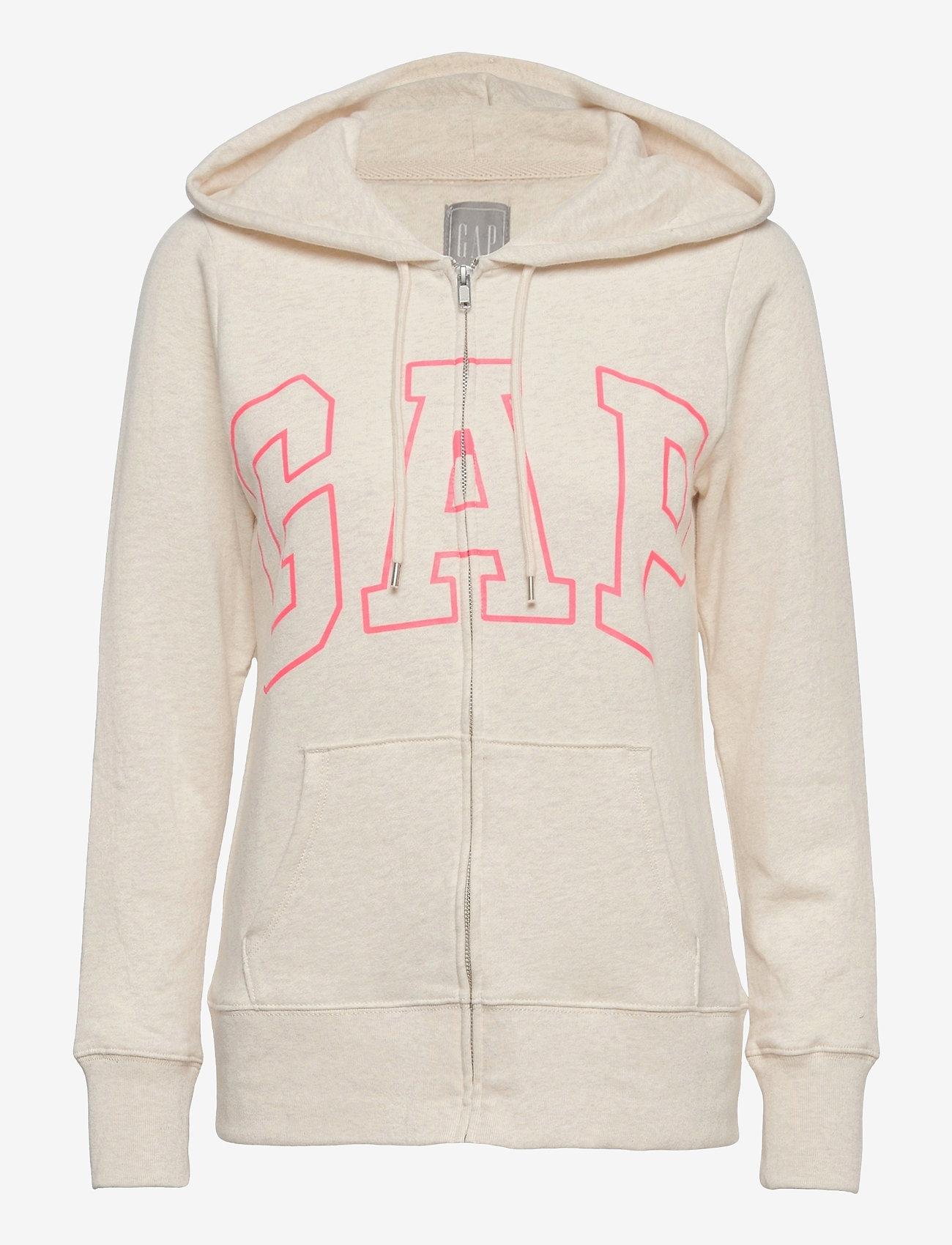 GAP - Gap Logo Easy Hoodie - hoodies - oatmeal heather - 0