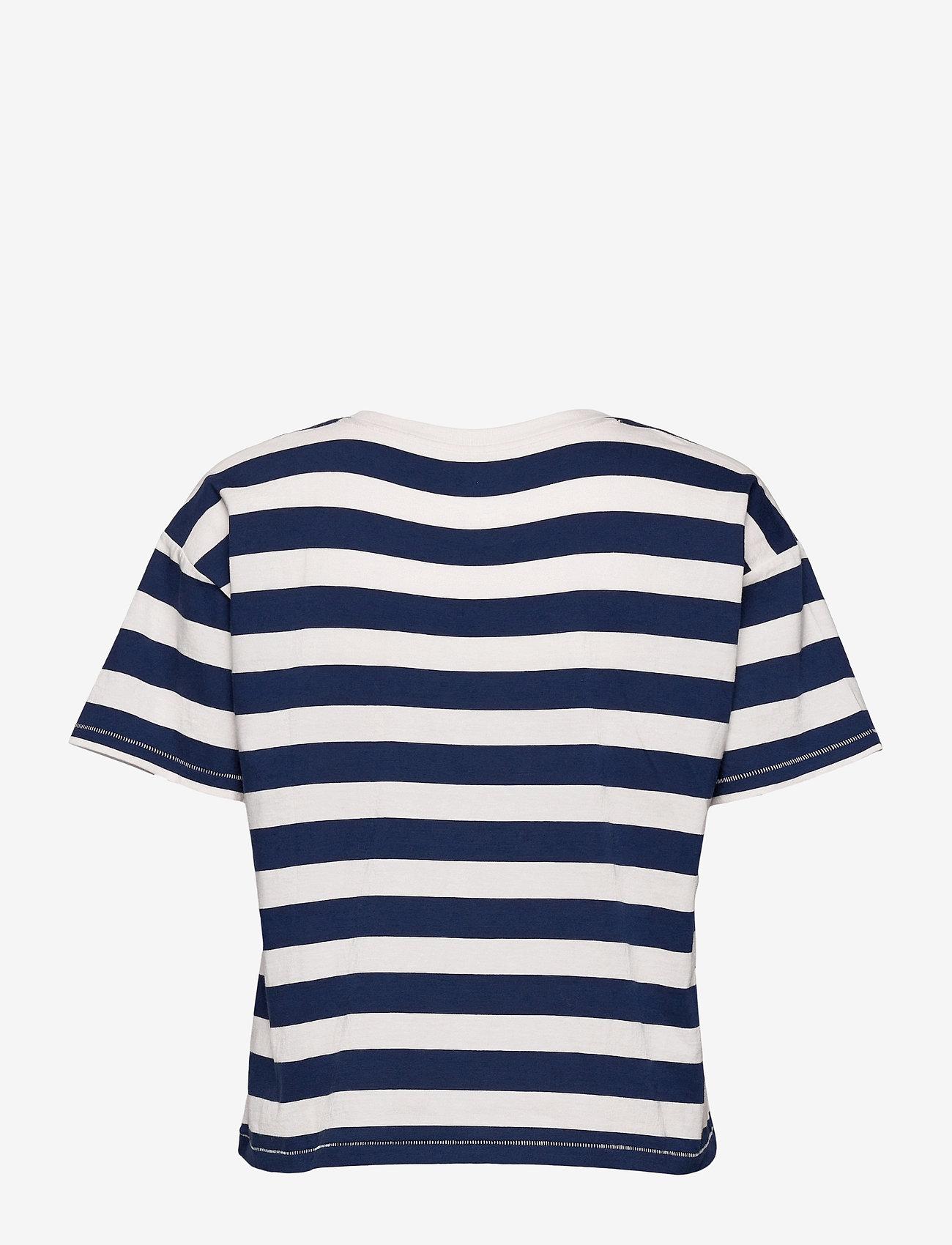 GAP - GAP EASY SS TEE - t-shirts - navy white stripe - 1
