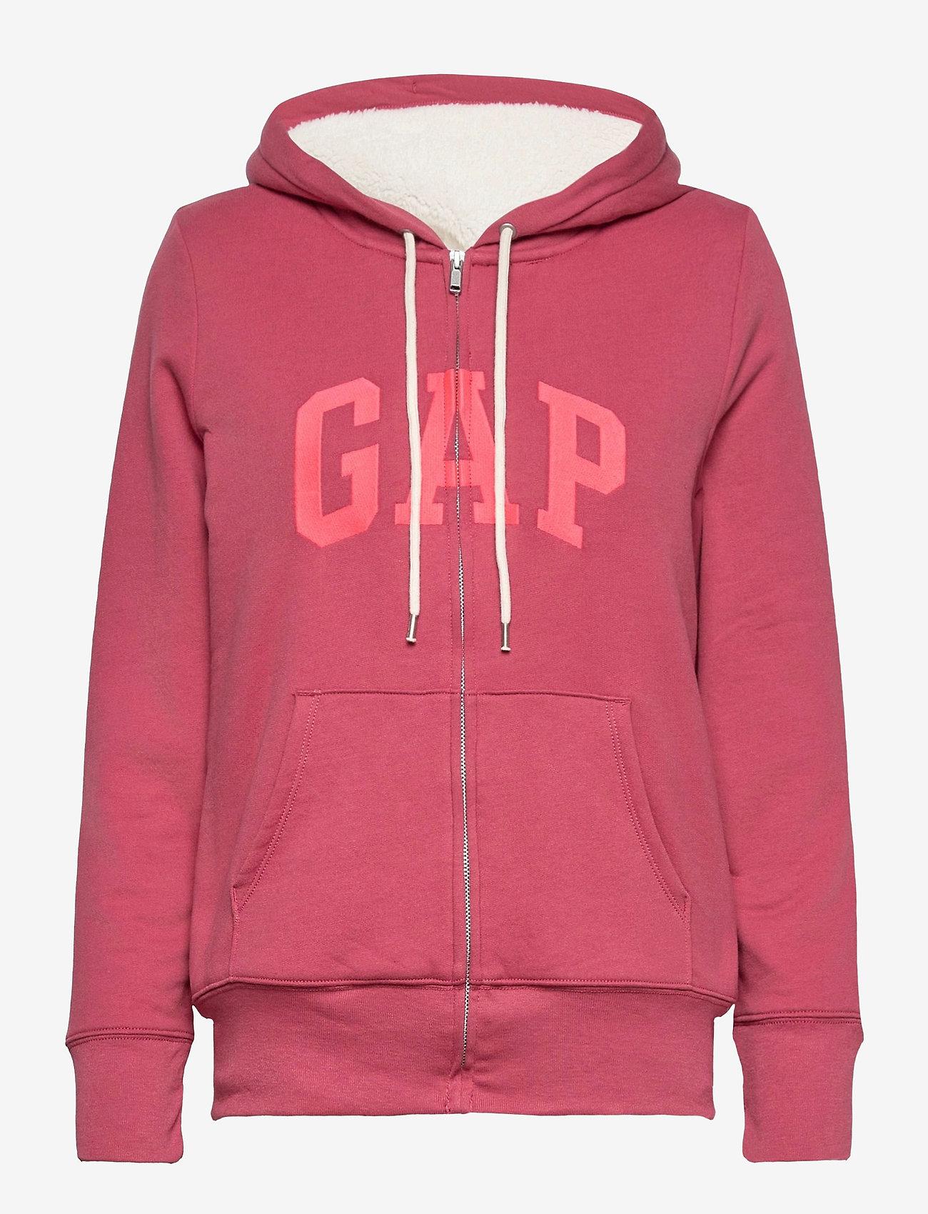 GAP - Gap Logo Sherpa Hoodie - hoodies - faded rose 559 - 0
