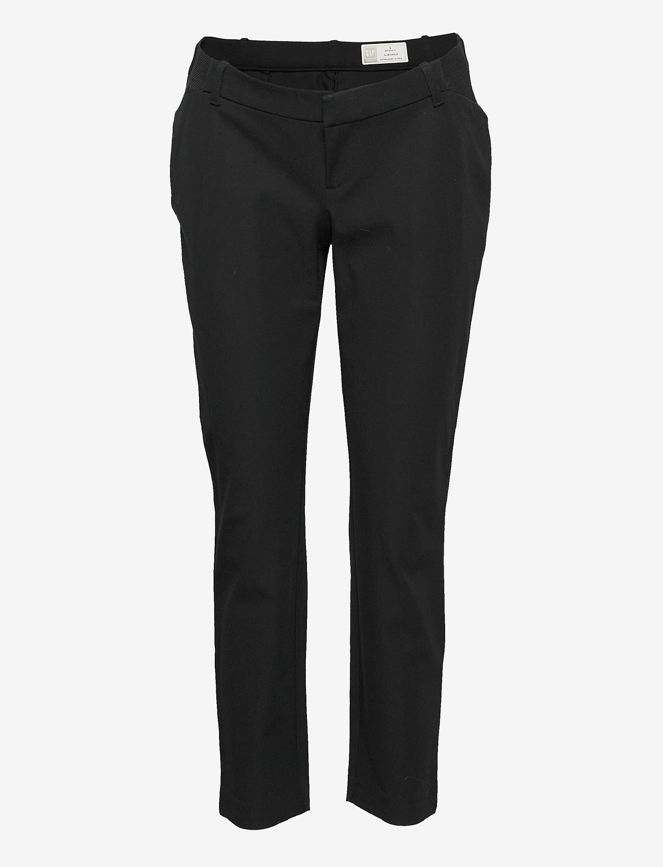 GAP - Maternity Inset Panel Slim Ankle Pants - slim fit trousers - true black v2 - 0