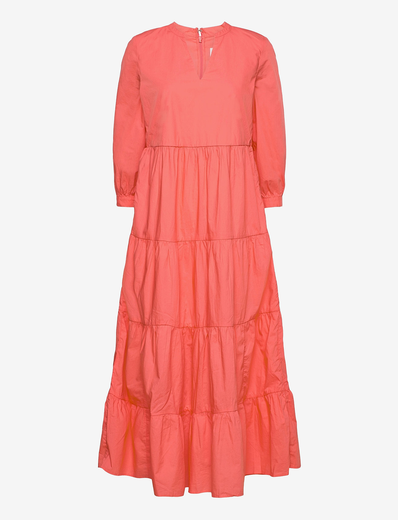 GAP - Tiered Split-Neck Dress - everyday dresses - pink reef 2 - 0