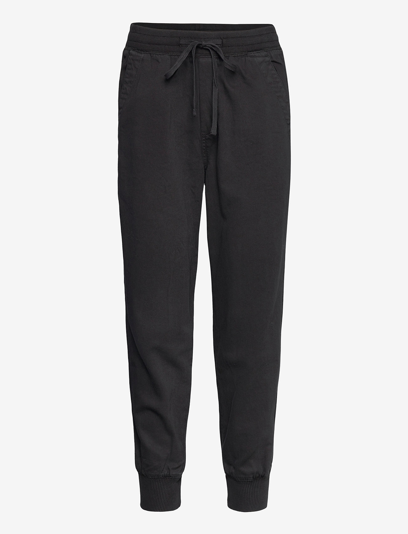 GAP - Soft Woven Joggers - casual trousers - true black - 0
