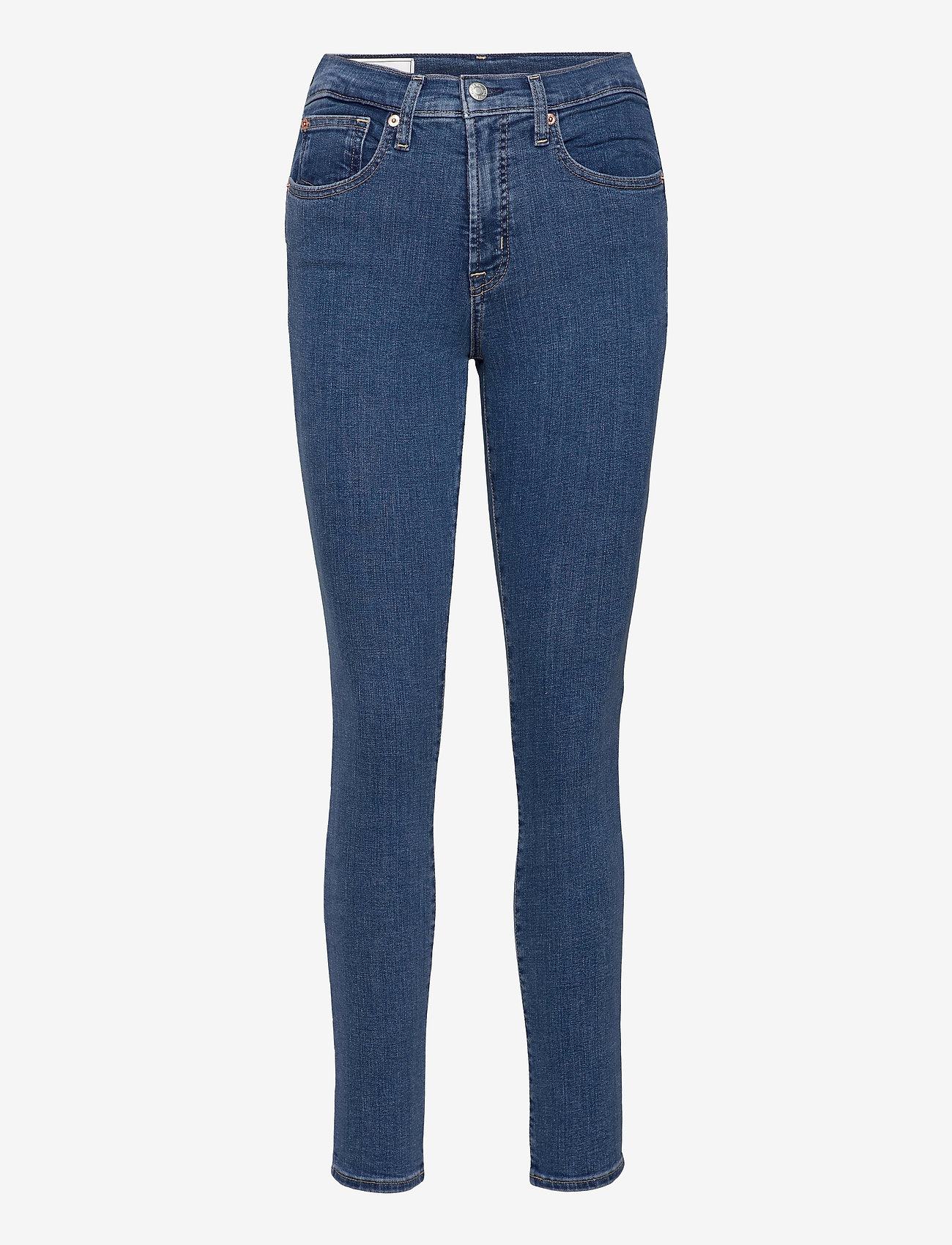 GAP - High Rise True Skinny Jeans with Secret Smoothing Pockets - skinny jeans - medium indigo 8 - 0