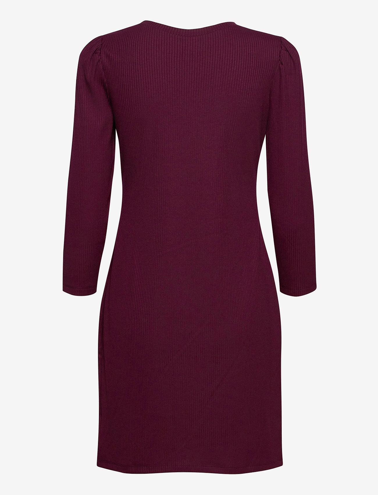 GAP - Ribbed Dress - everyday dresses - secret plum - 1