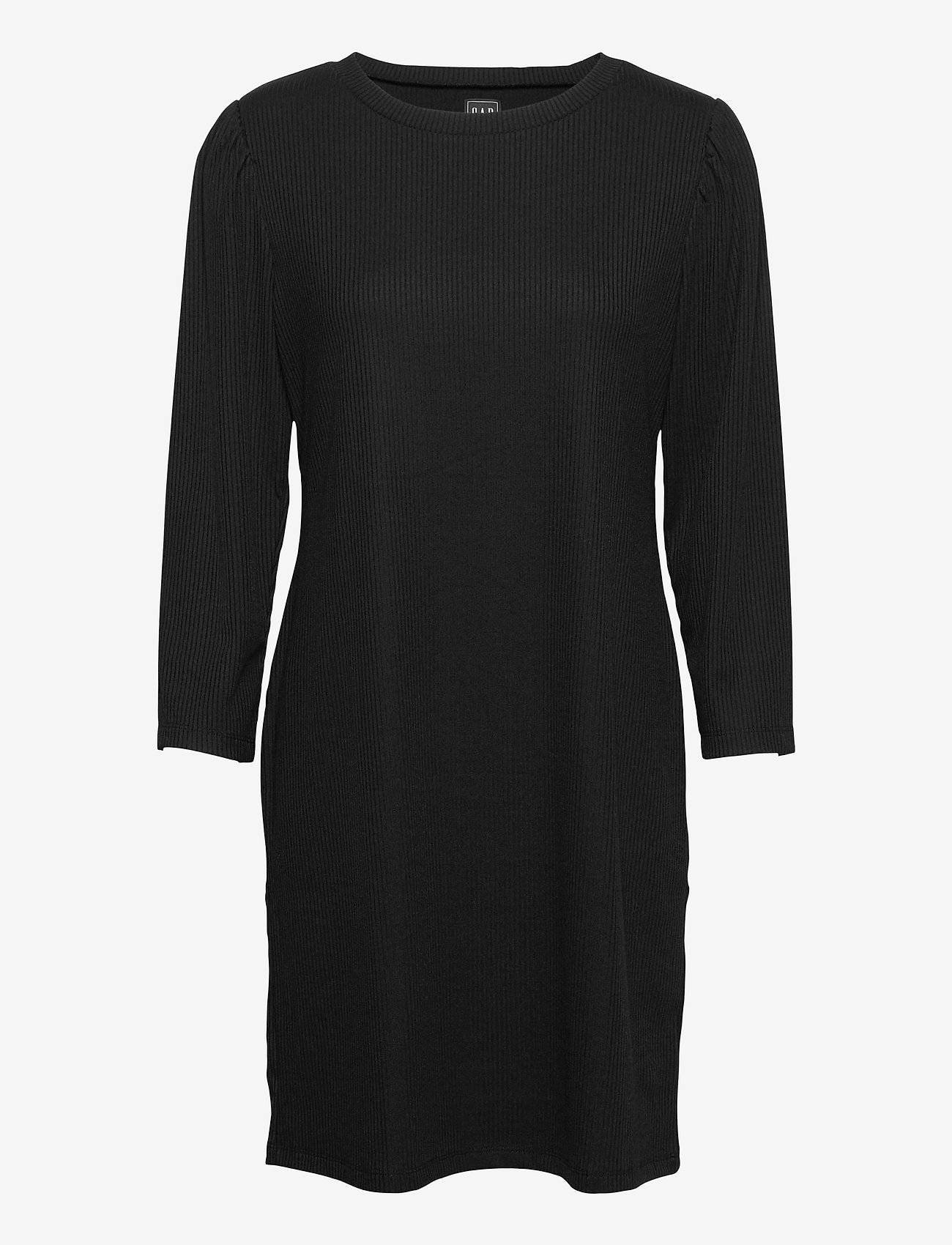 GAP - Ribbed Dress - everyday dresses - true black v2 - 0