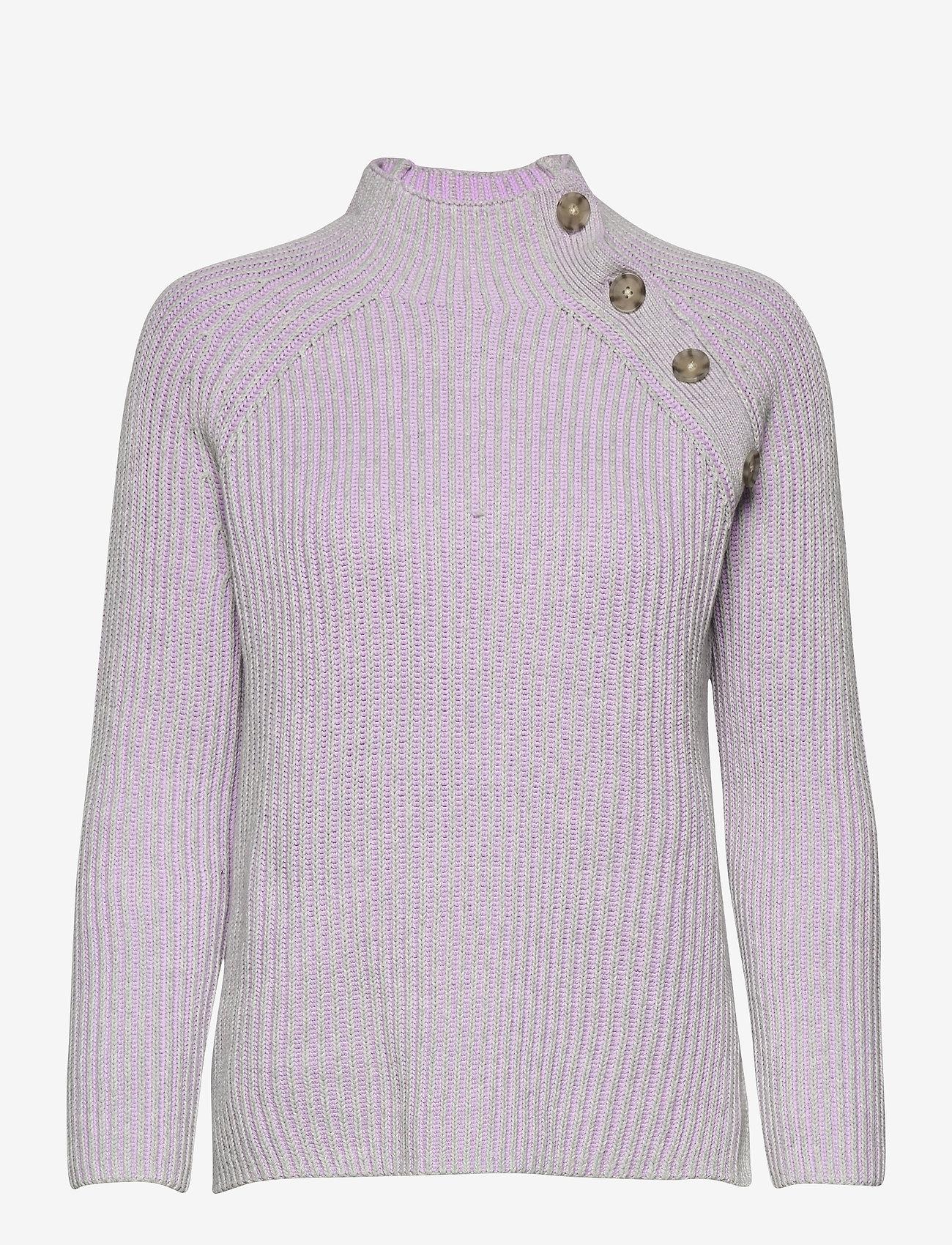 GAP - Asymmetrical Button Mockneck Raglan Sweater - jumpers - lilac - 0