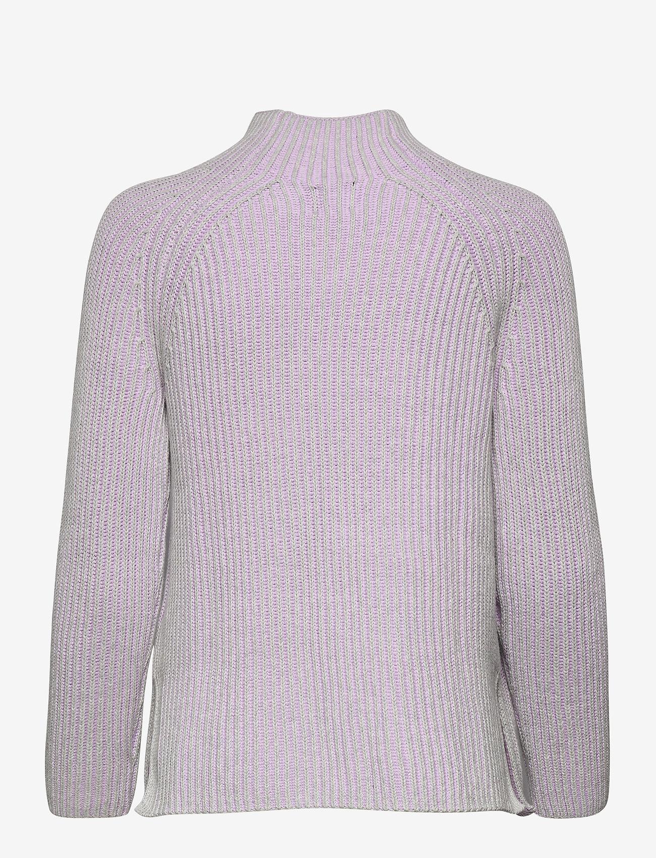 GAP - Asymmetrical Button Mockneck Raglan Sweater - jumpers - lilac - 1