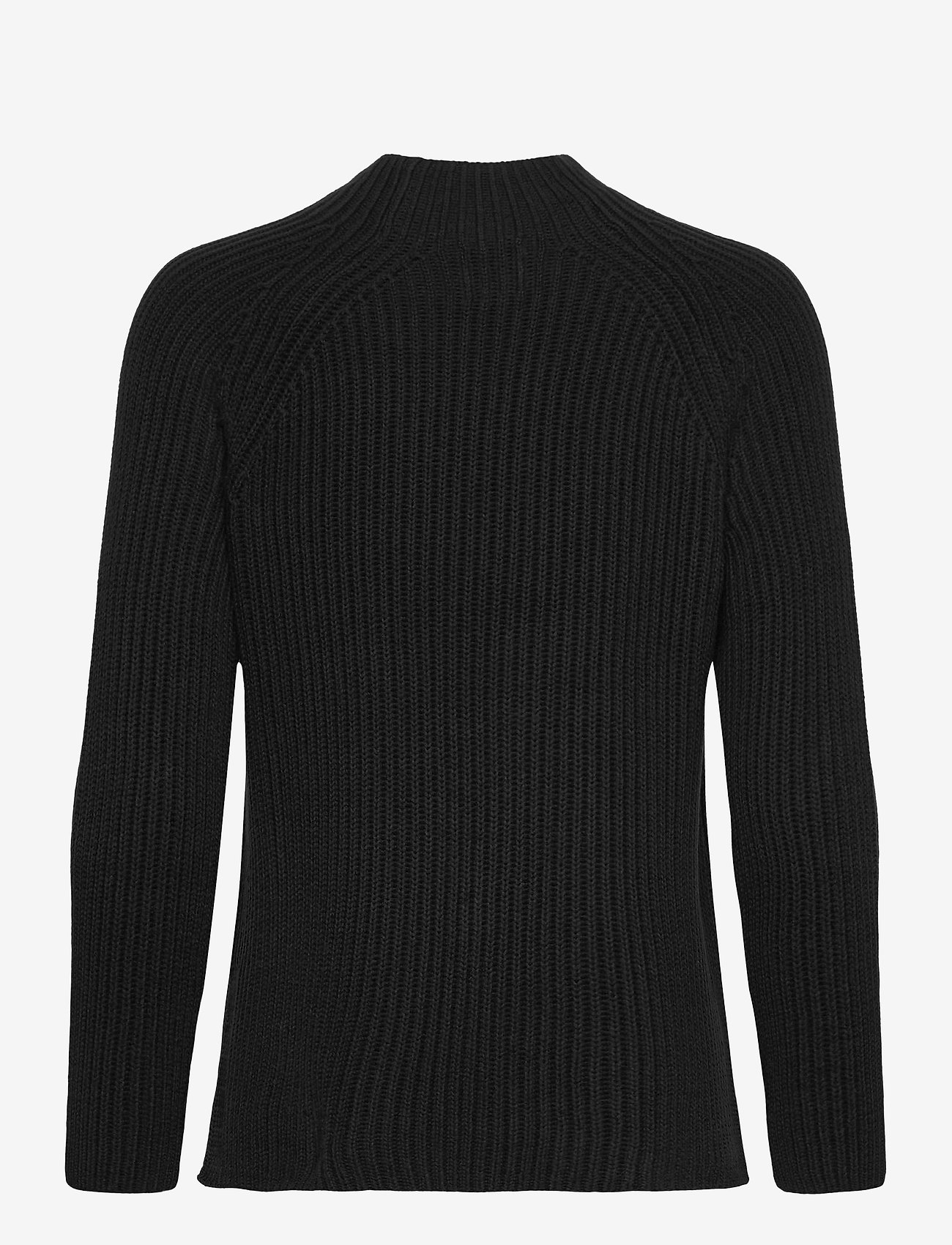 GAP - Asymmetrical Button Mockneck Raglan Sweater - jumpers - true black - 1