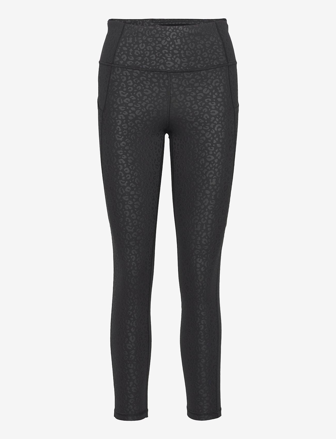 GAP - GapFit High Rise Blackout Full Length Leggings - running & training tights - leopard matte shine - 0
