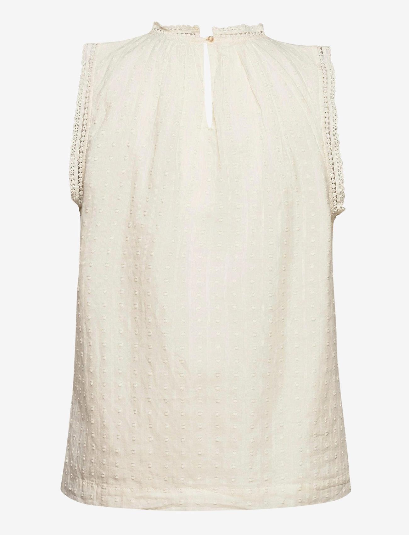 GAP - Shirred Lace Top - Ærmeløse bluser - ivory - 1