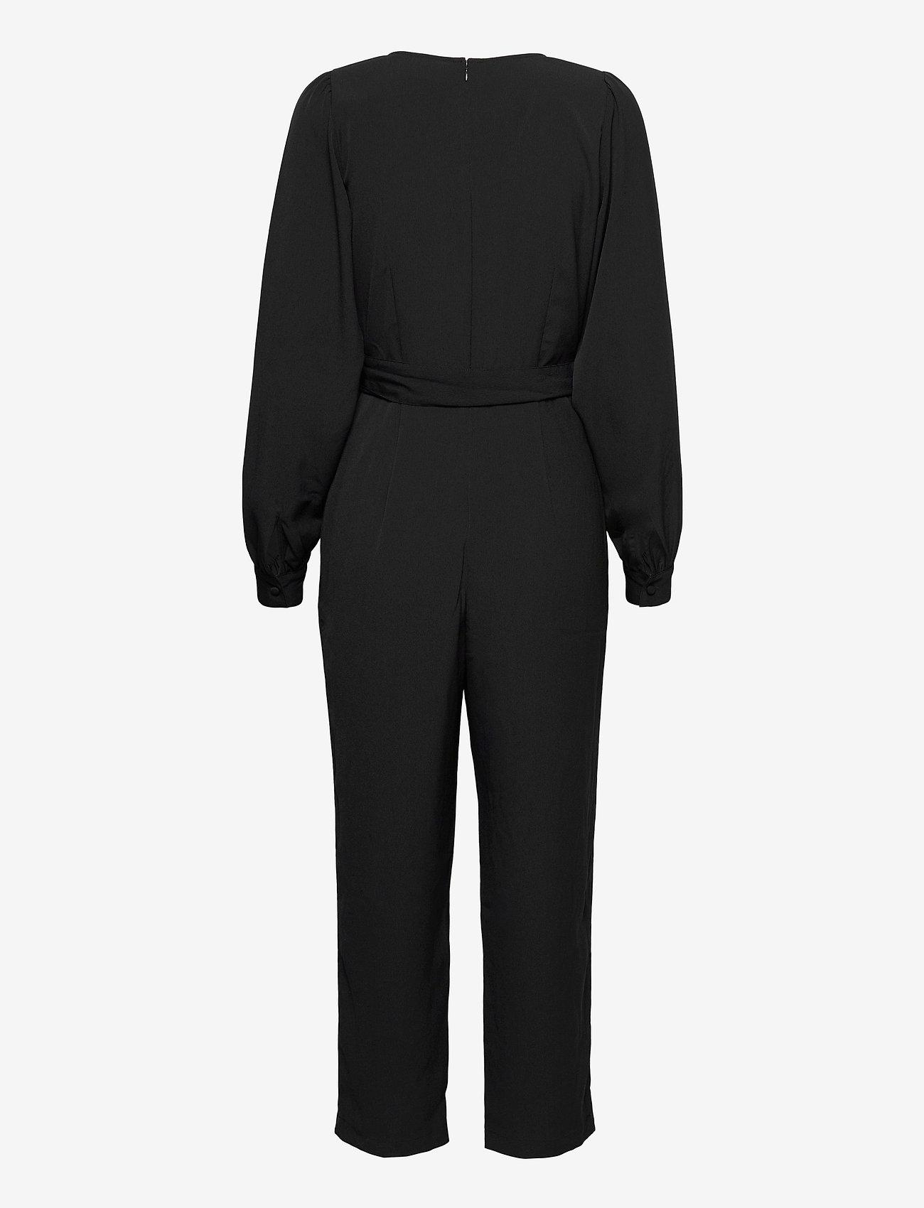 GAP - V-Neck Jumpsuit - jumpsuits - true black - 1