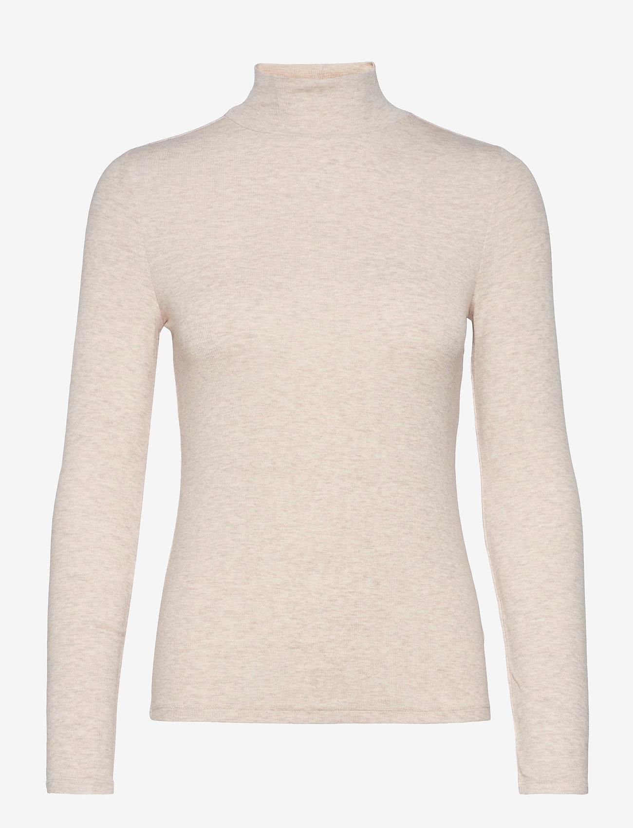 GAP - LS COZY RIB TNK - turtlenecks - oatmeal heather b0294 - 0