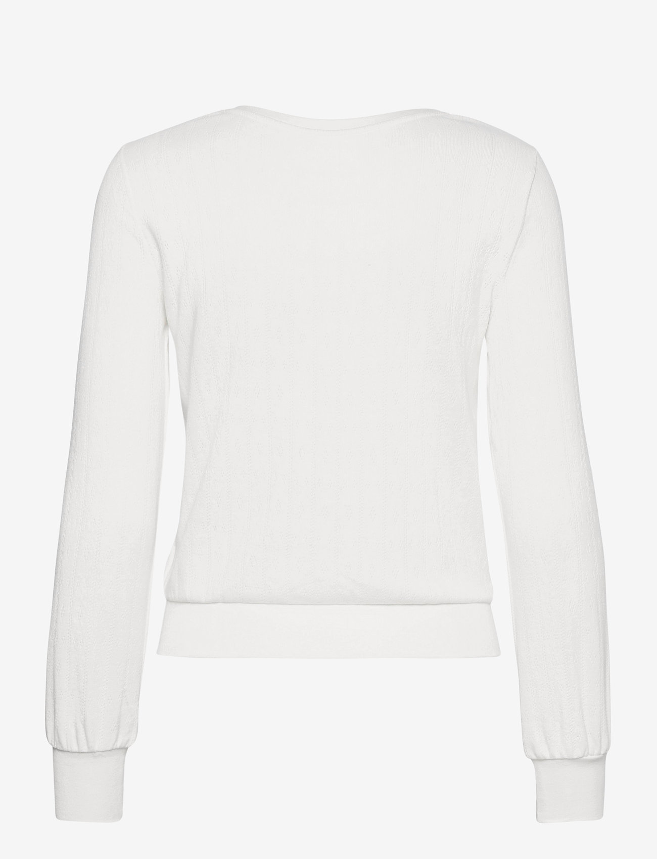 GAP - Cropped Pointelle Crewneck T-Shirt - long-sleeved tops - milk 600 global - 1